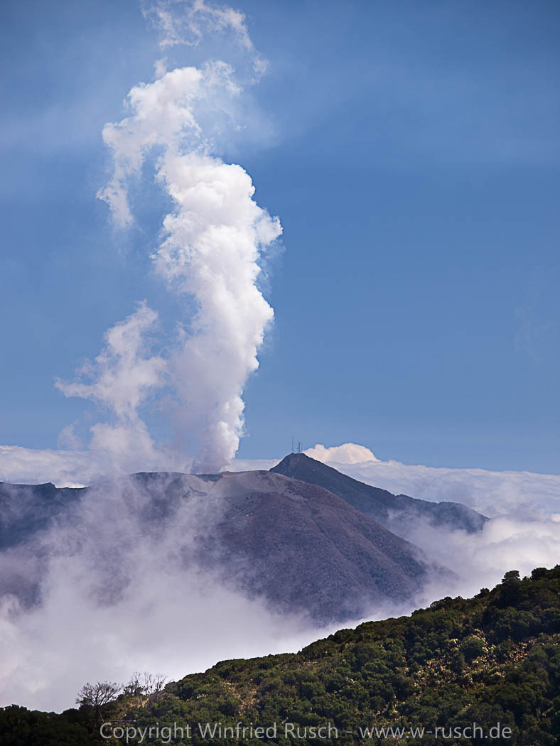 Vulkan Turrialba, Costa Rica