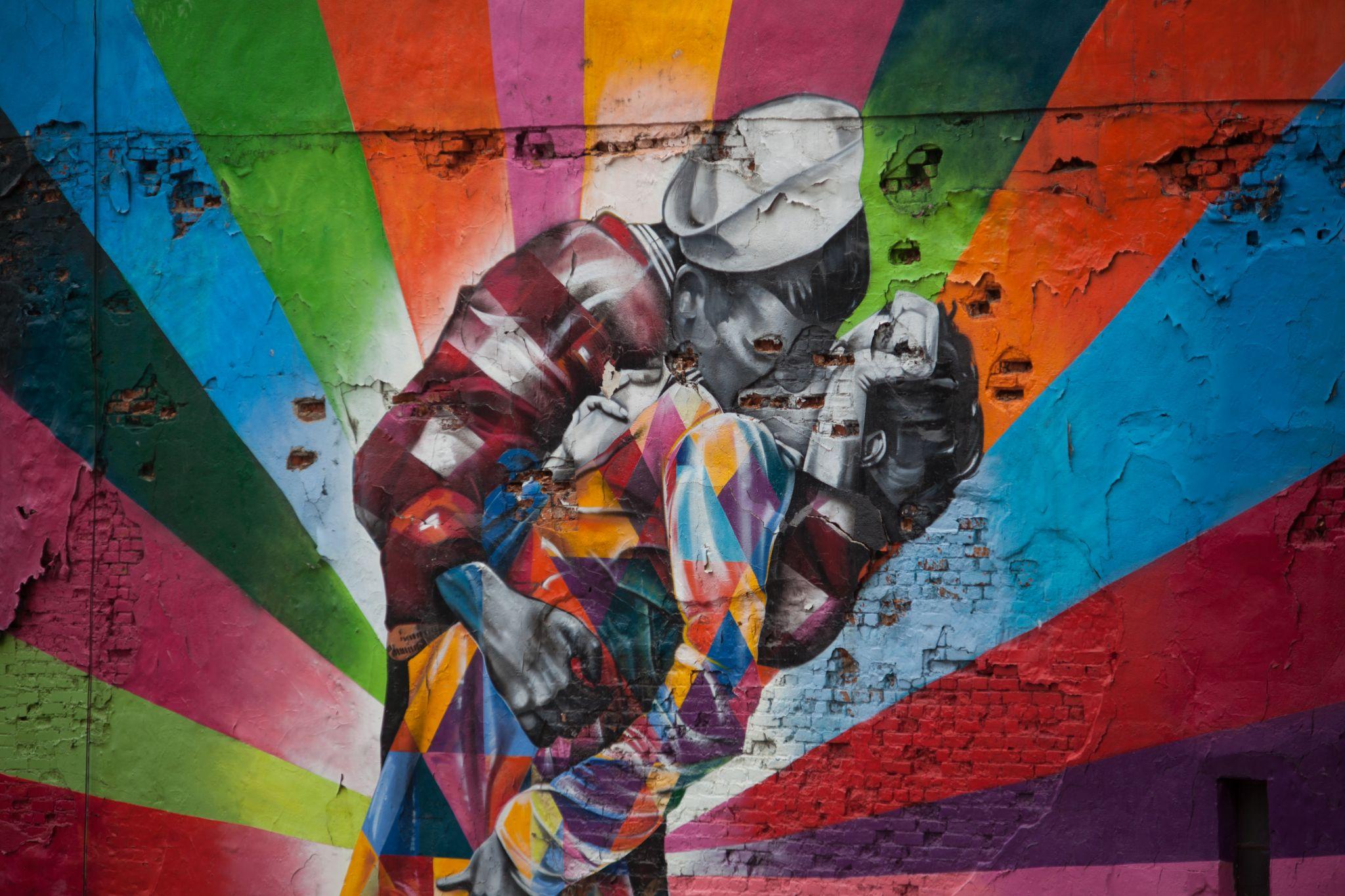 Wall painting, USA