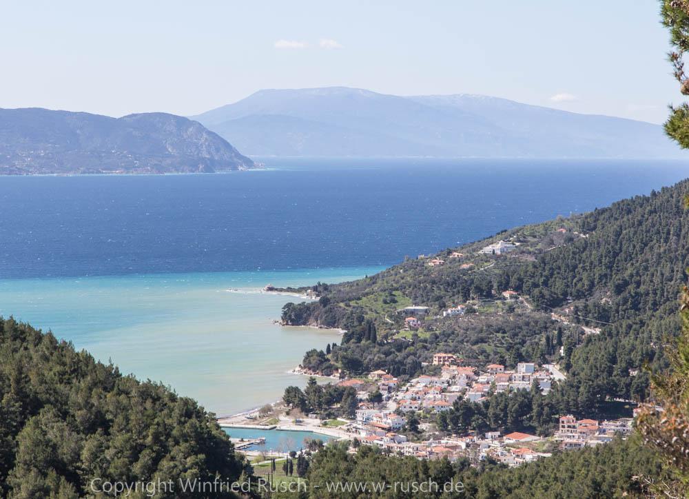 Blick auf Neó Klima, Greece