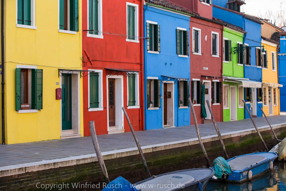 bunte Häuser in Burano, Italy