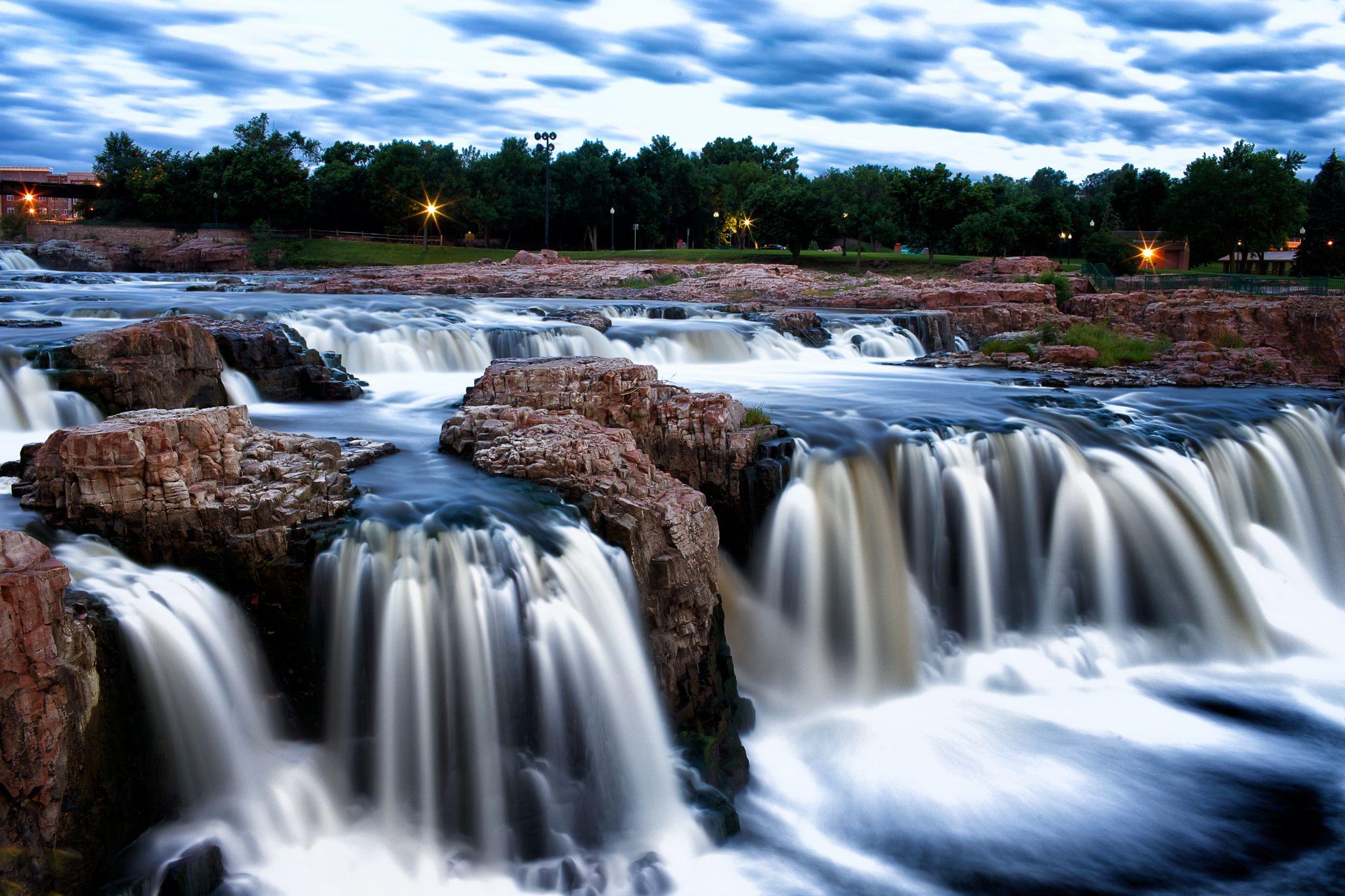 Falls Park, Sioux Falls, South Dakota, USA