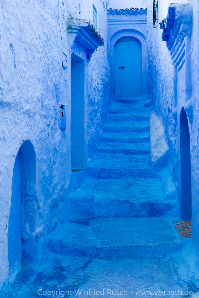 Gasse in Chefchaouen, Morocco