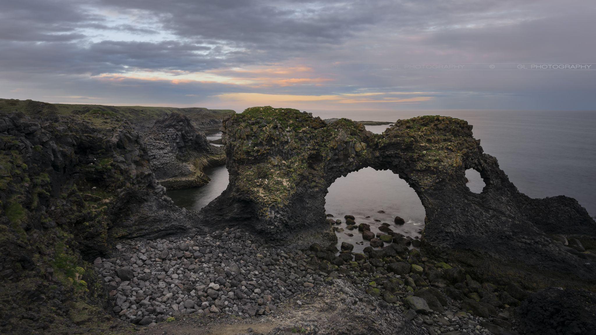 Gatklettur Stone Arch, Iceland