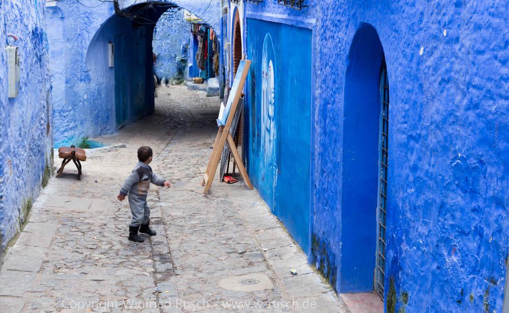 In der Altstadt von Chefchaouen, Morocco