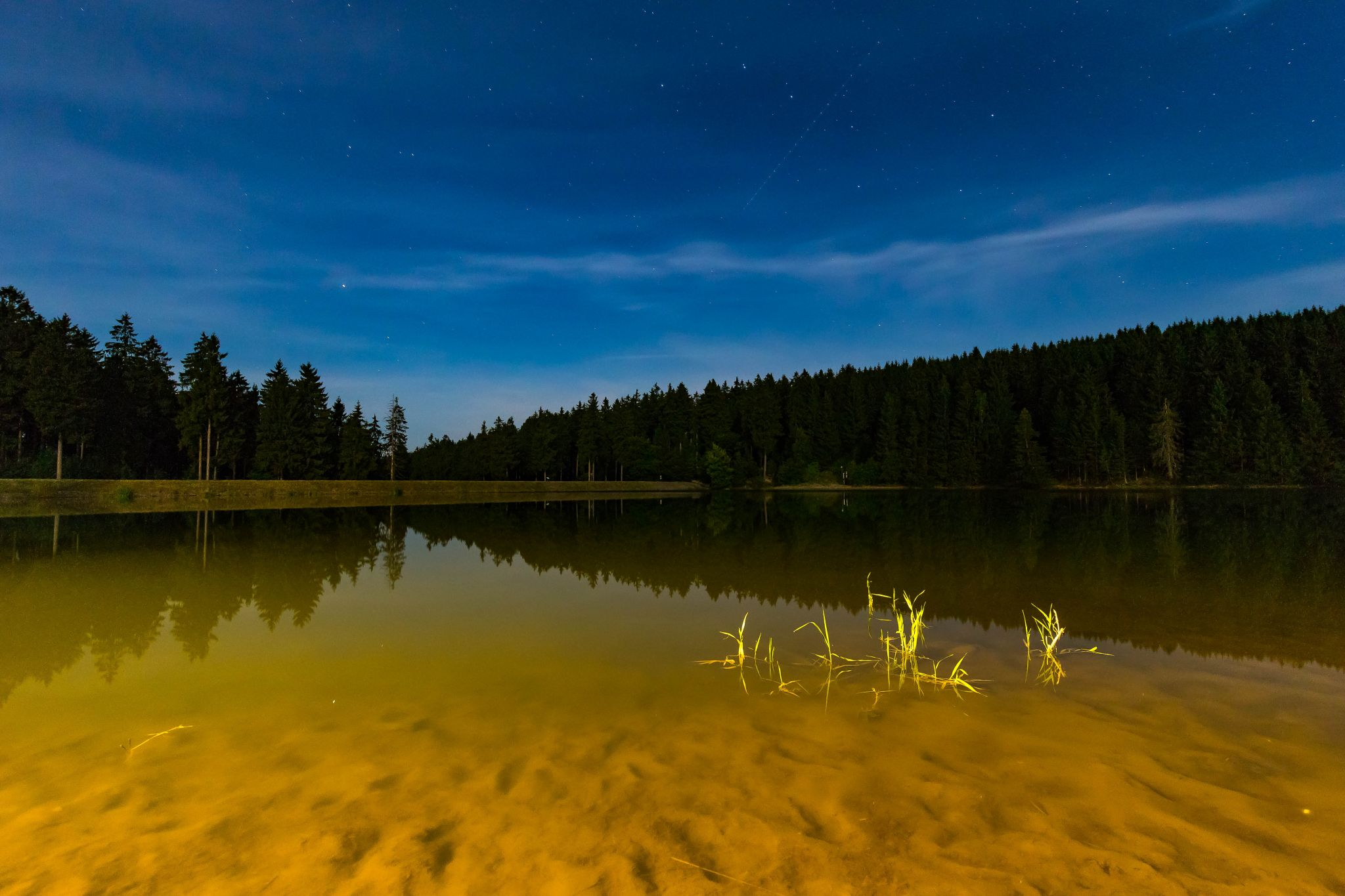 Lake with stars Hartz, Germany