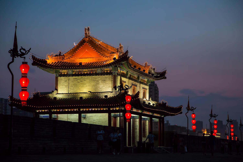 Old City Wall of Xian, China, Chinese Silk Road, China