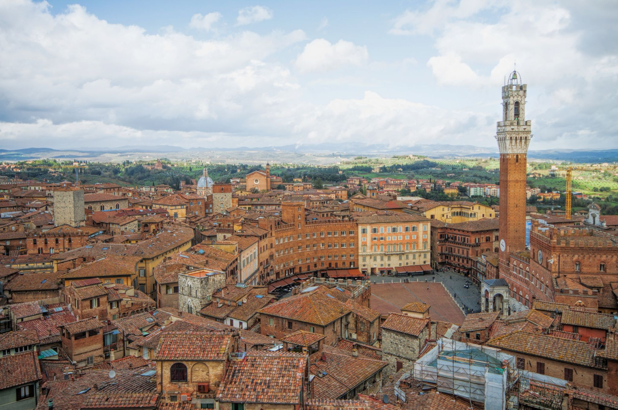 View over Siena from Facciatone, Italy