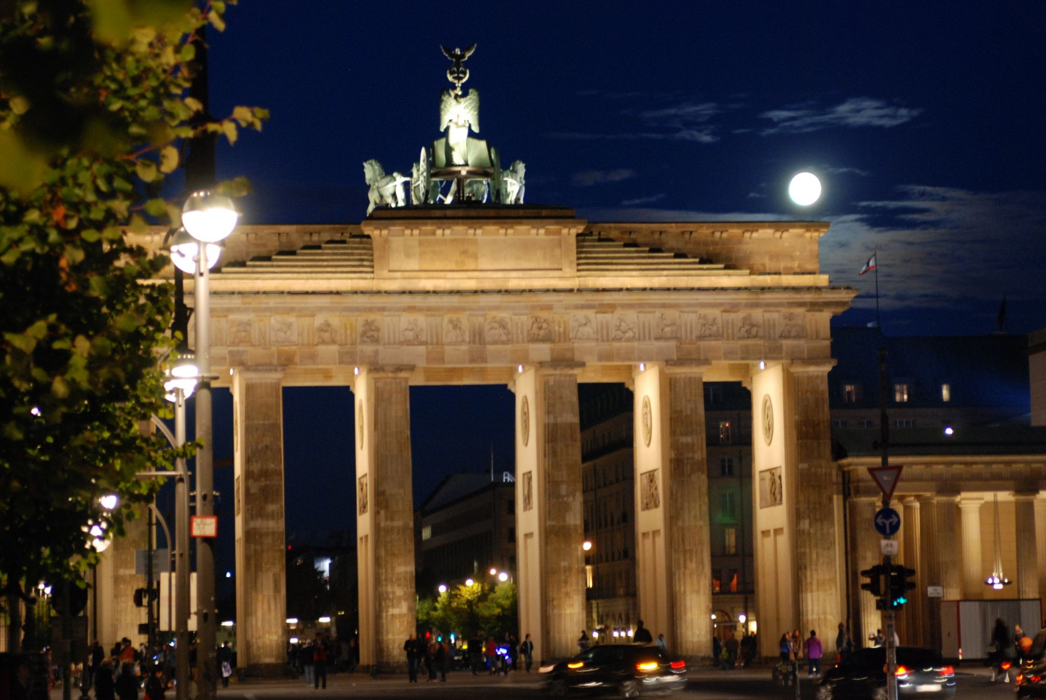 View of Brandenburg Gate from West, Germany