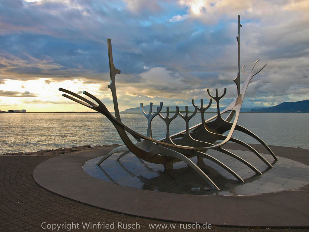 Wikinger Denkmal in Reykjavik, Iceland
