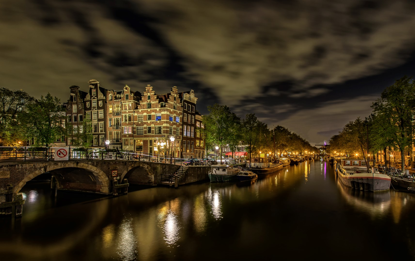 Amsterdam Nightscape, Netherlands
