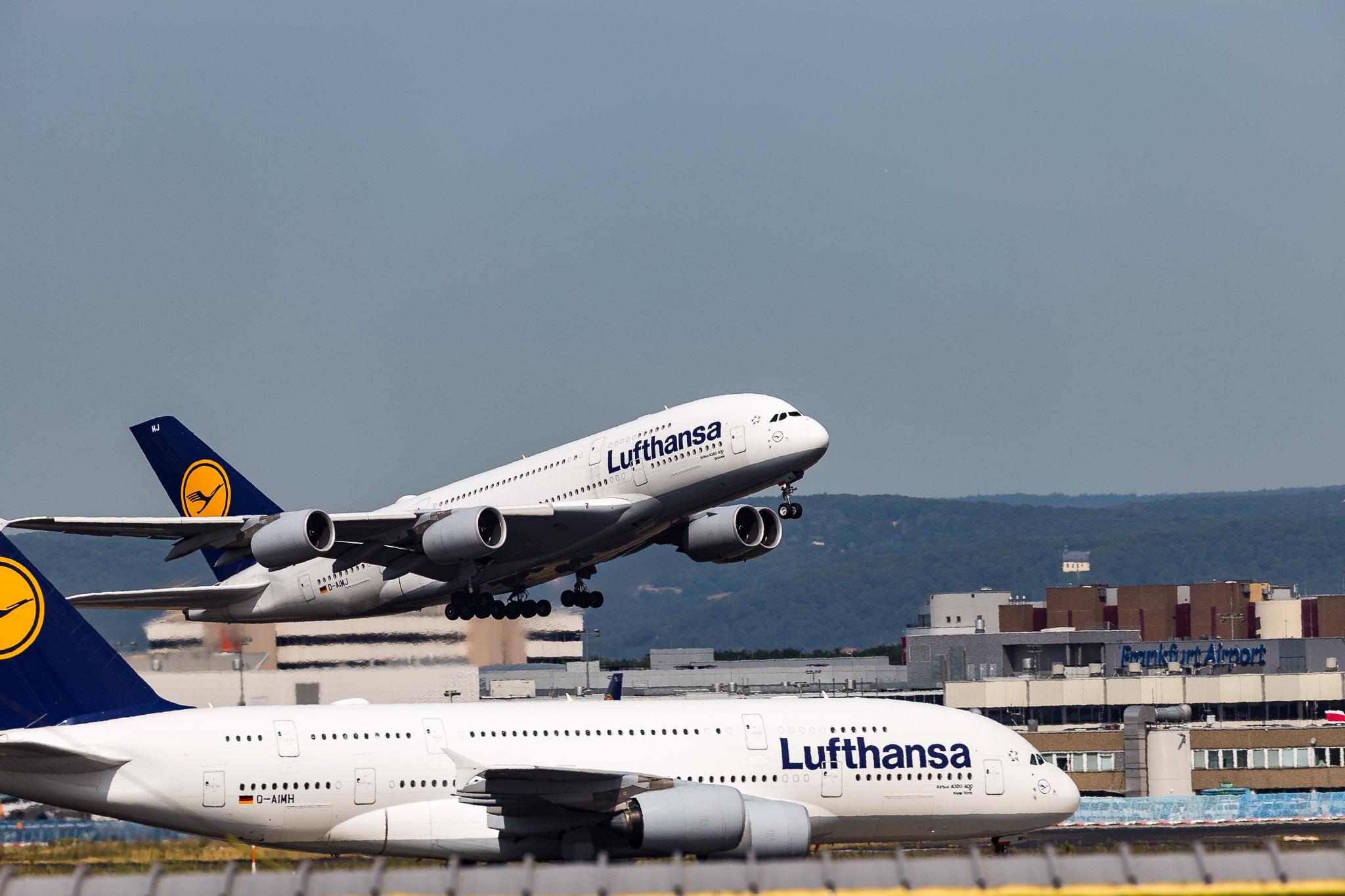 Frankfurt airport plane watching, Germany