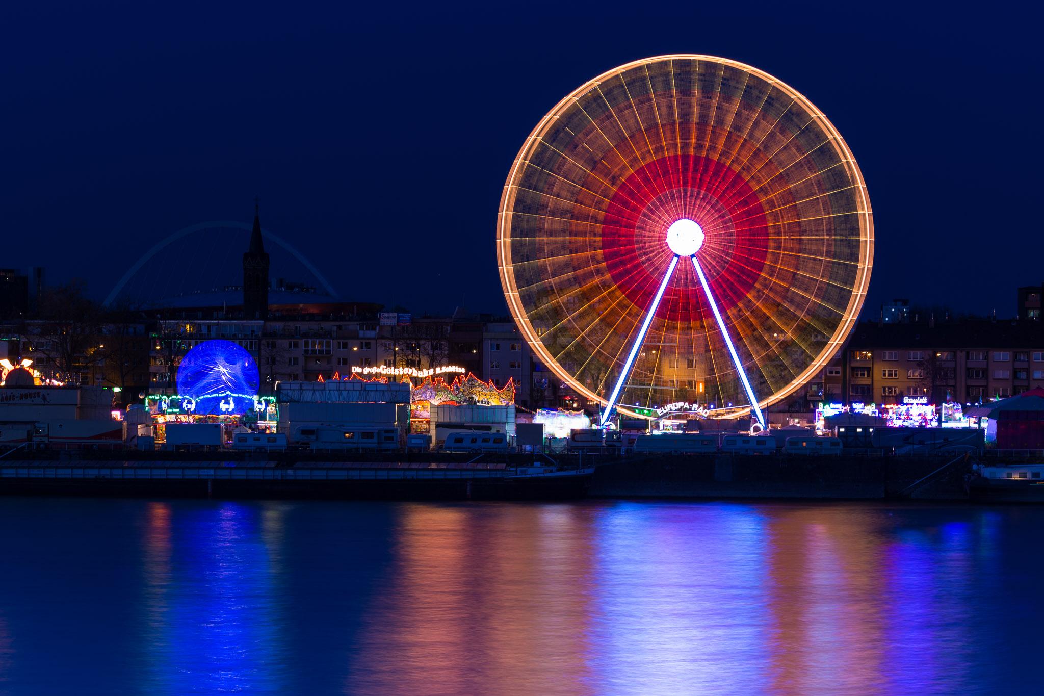 Funfair Cologne Deutz, Germany
