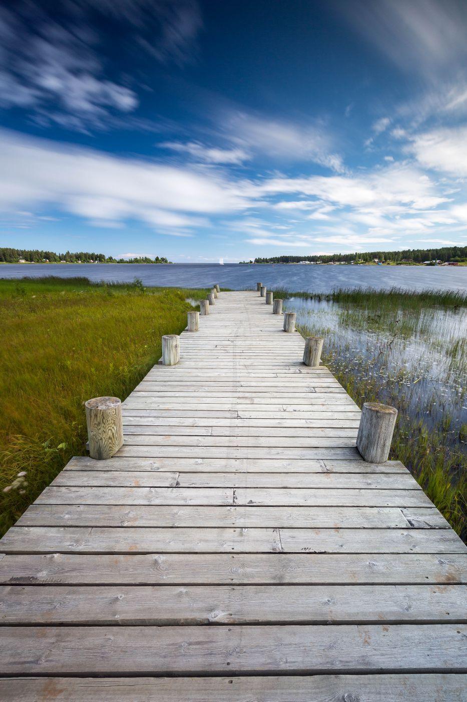Lovely pier south of Piteå, Sweden