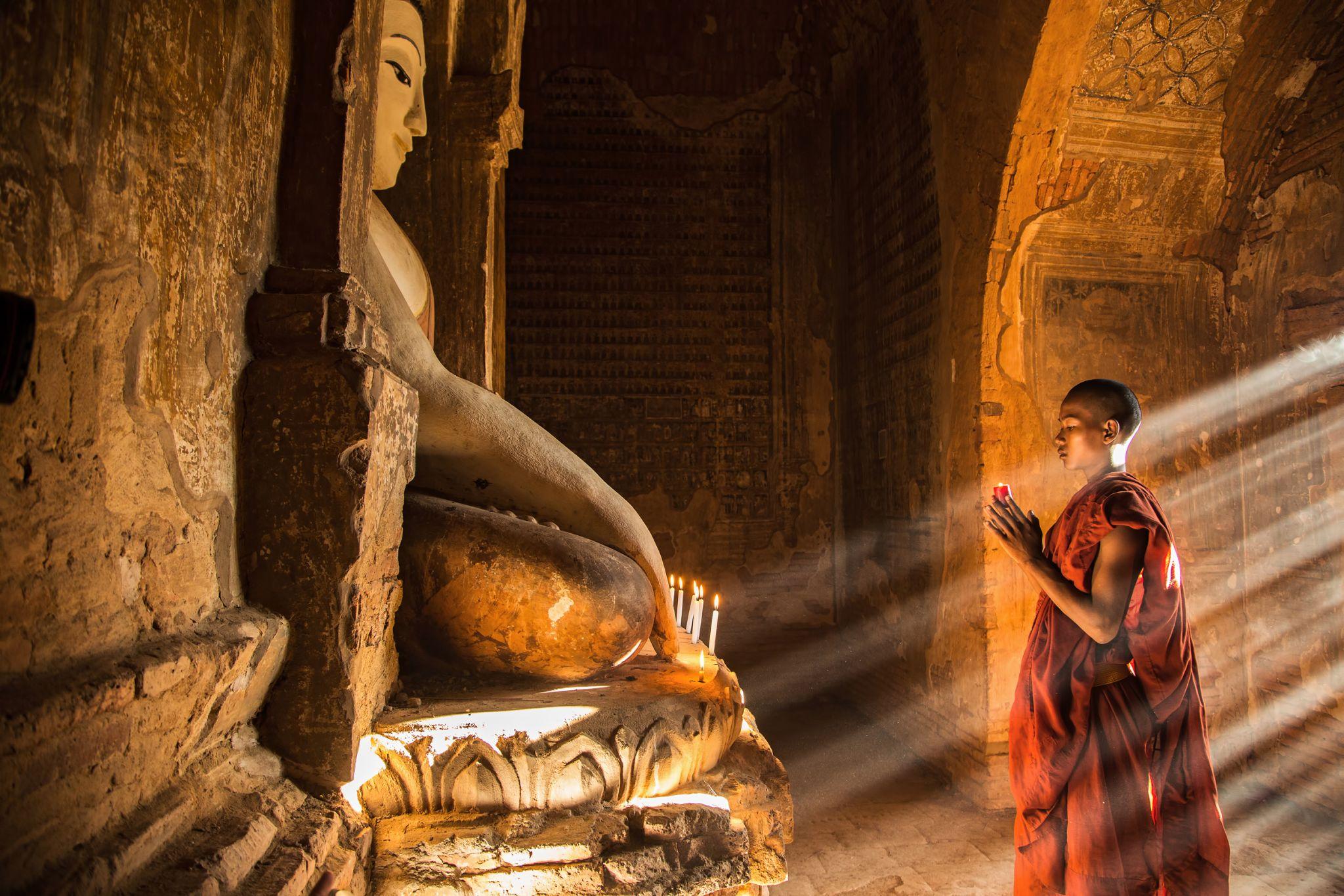Mönch in Bagan, Myanmar
