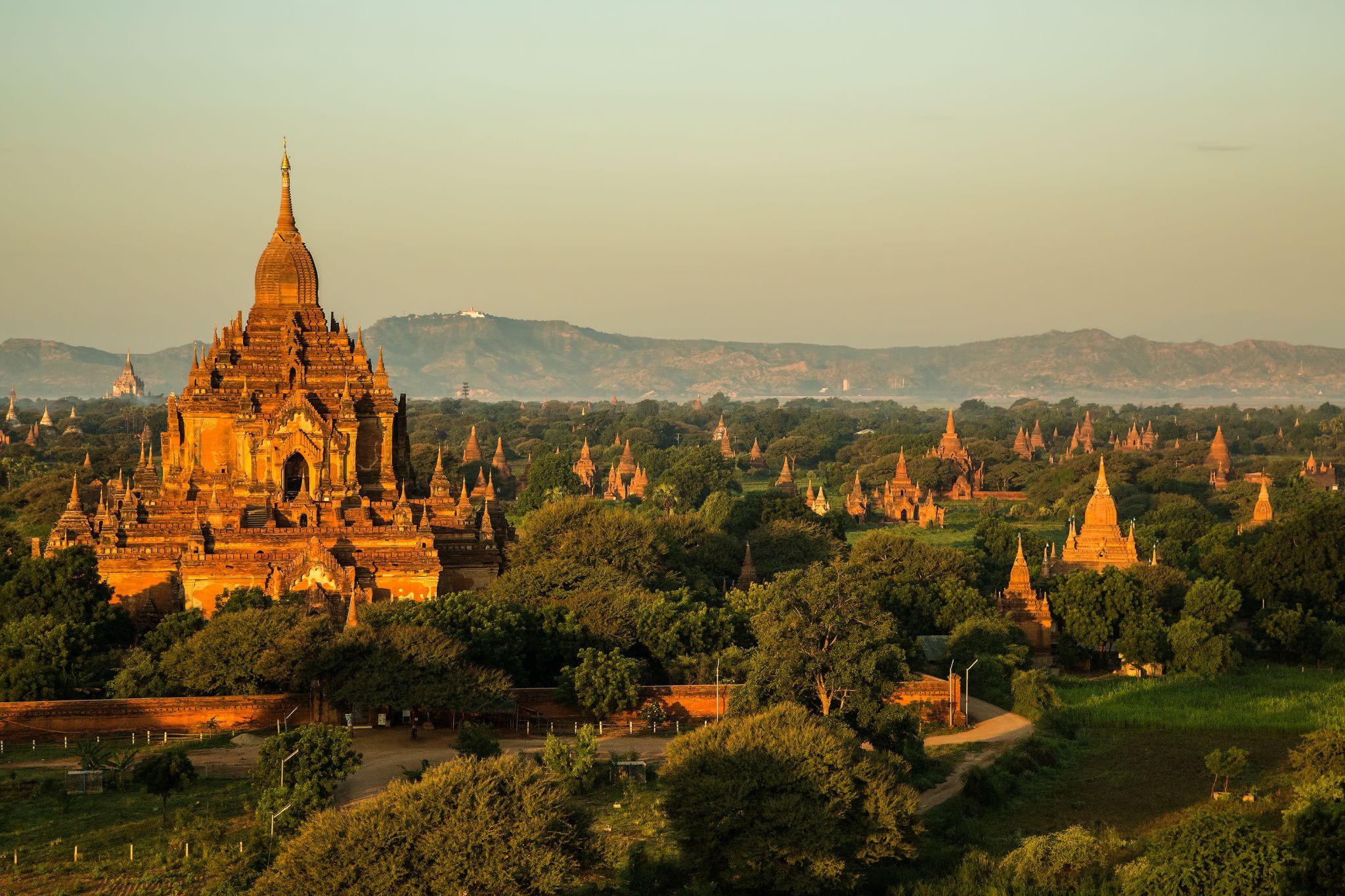 Pagoden in Old Bagan, Myanmar