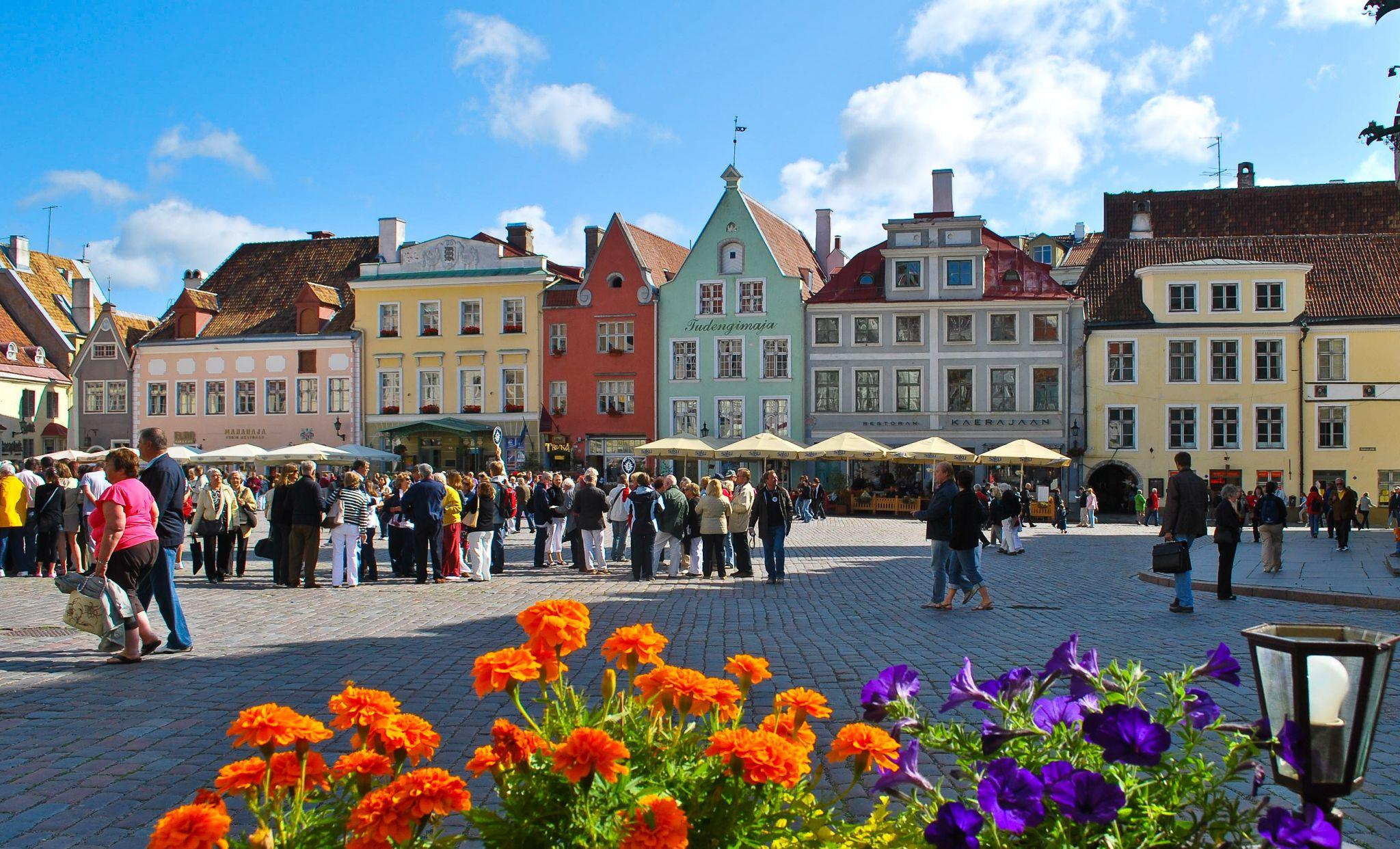 Tallinn Town Hall Square, Estonia