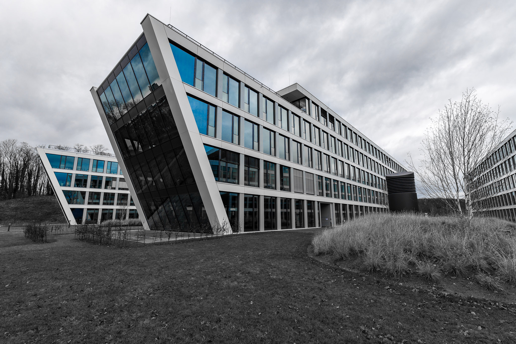 Architecture at Bonner Bogen, Germany