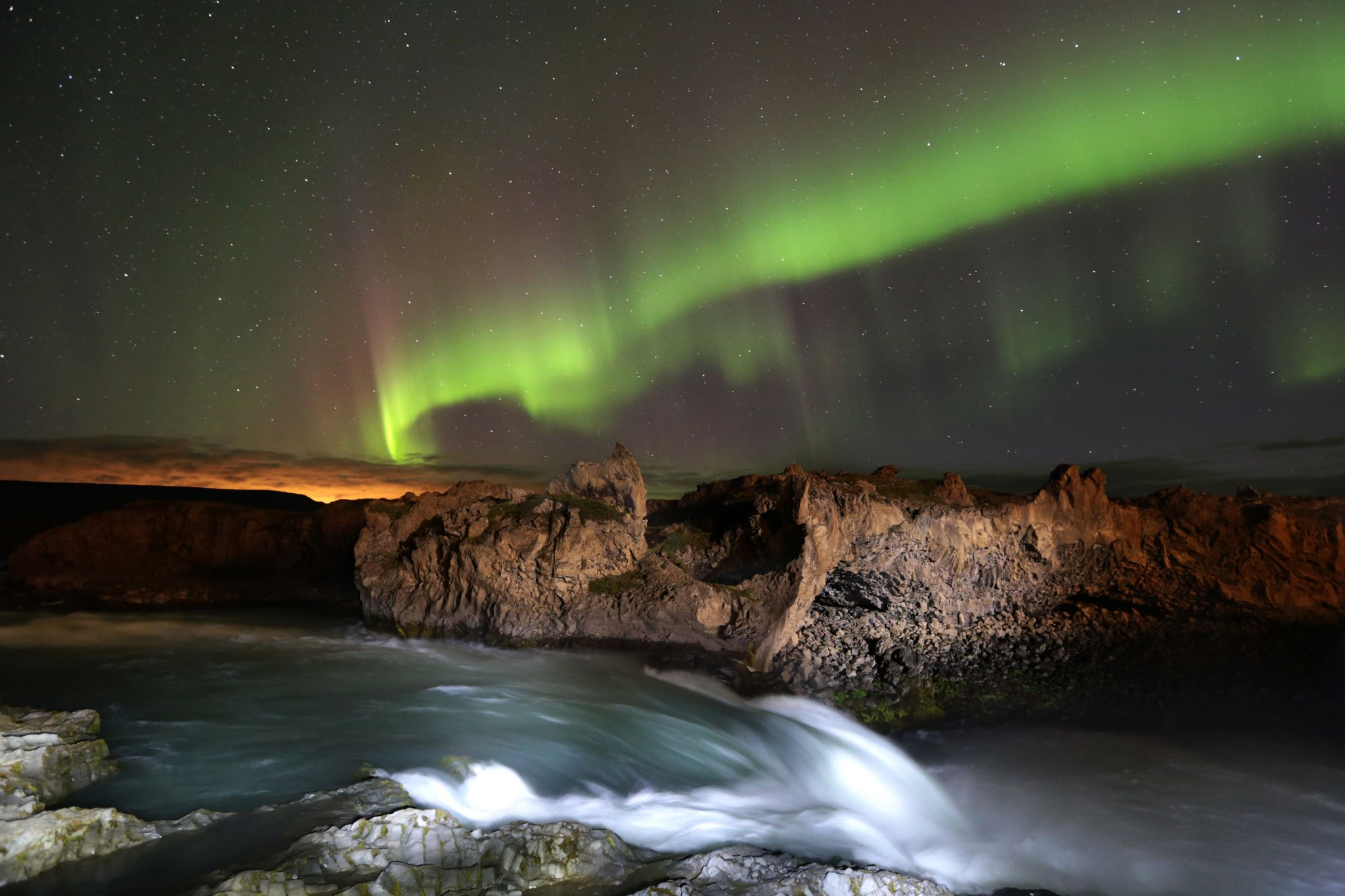 Godafoss Downstream, Iceland
