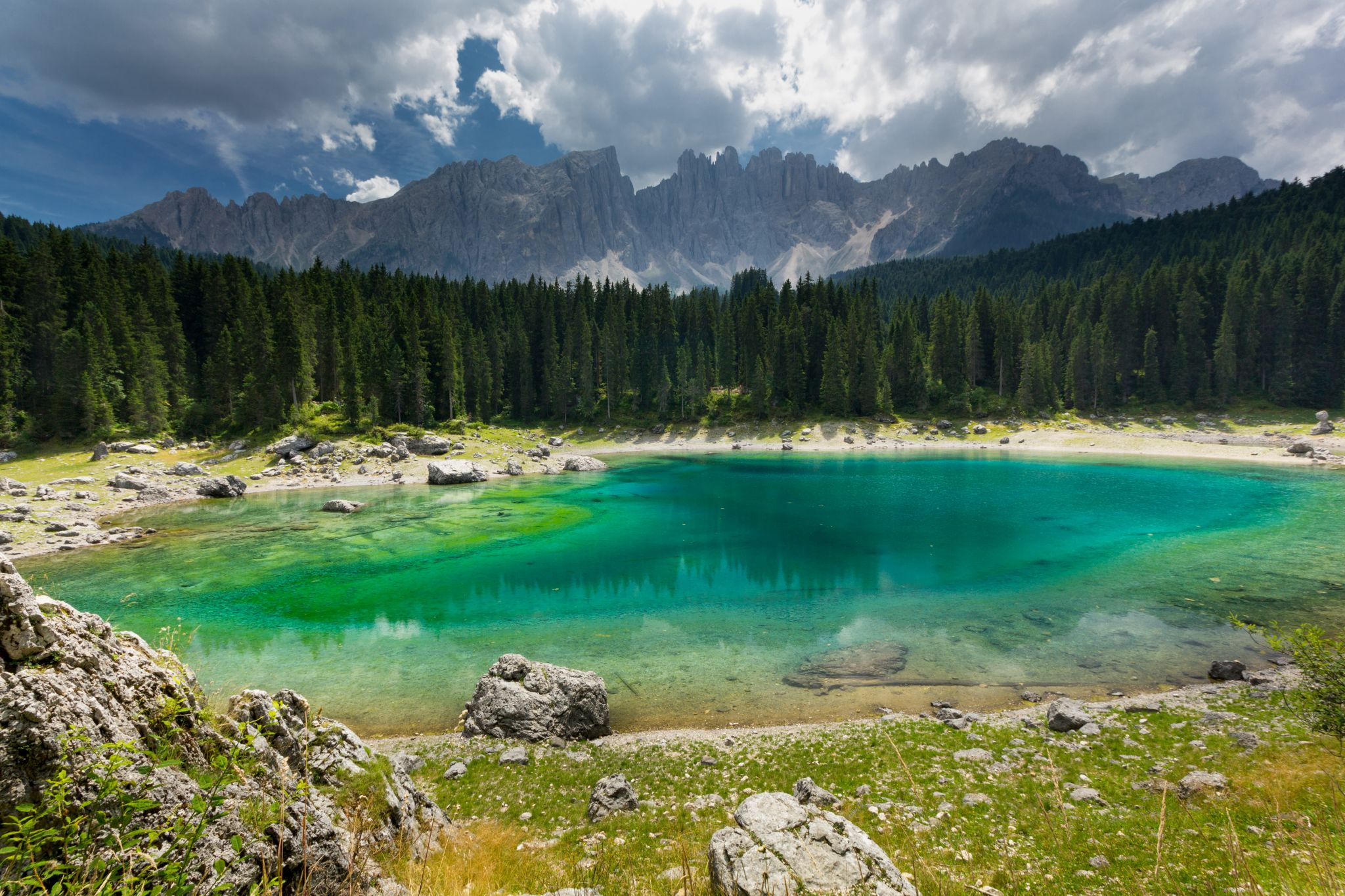 Lake of Carezza, Dolomites, Italy
