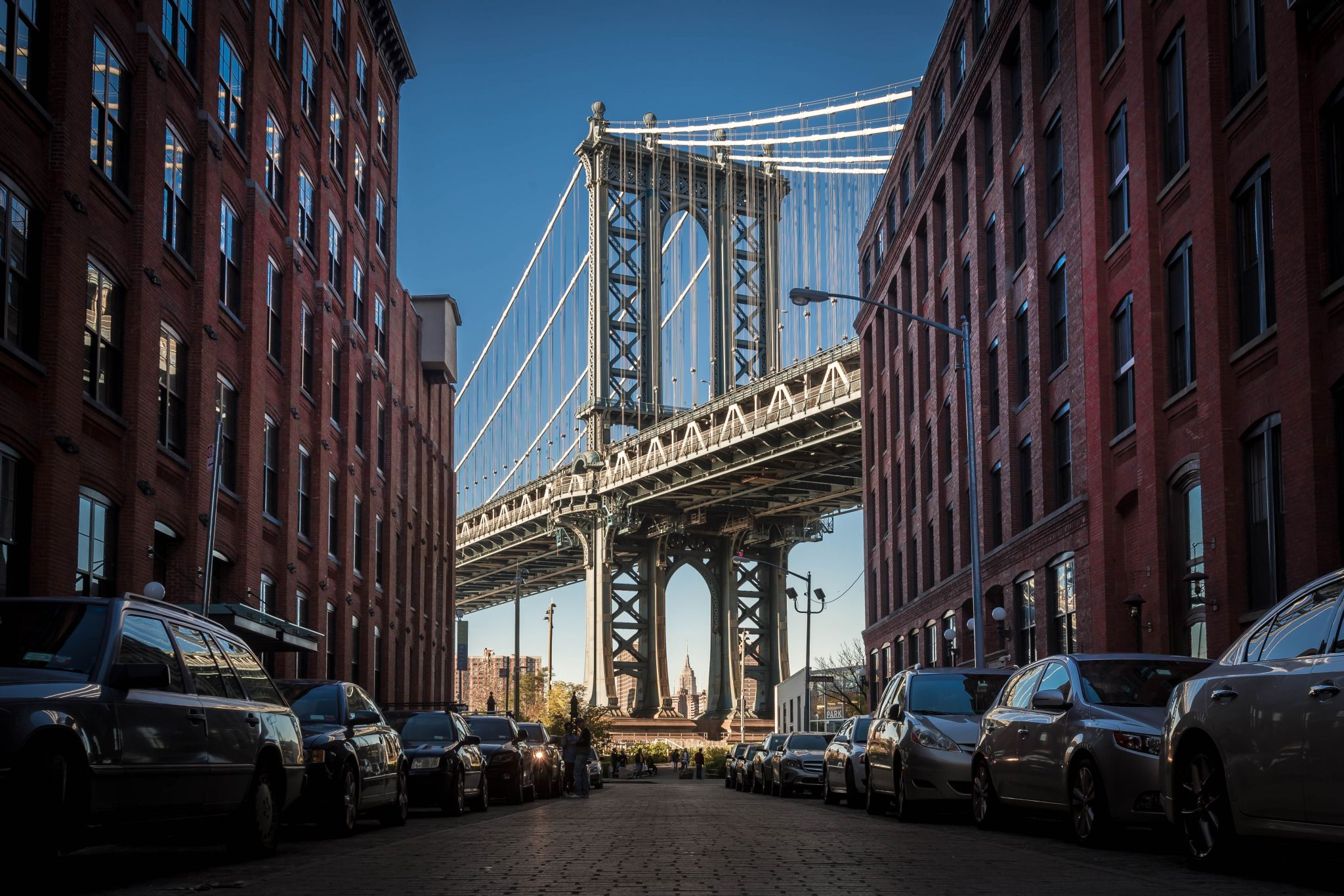 Manhatten Bridge from Washington St., NYC, USA, USA