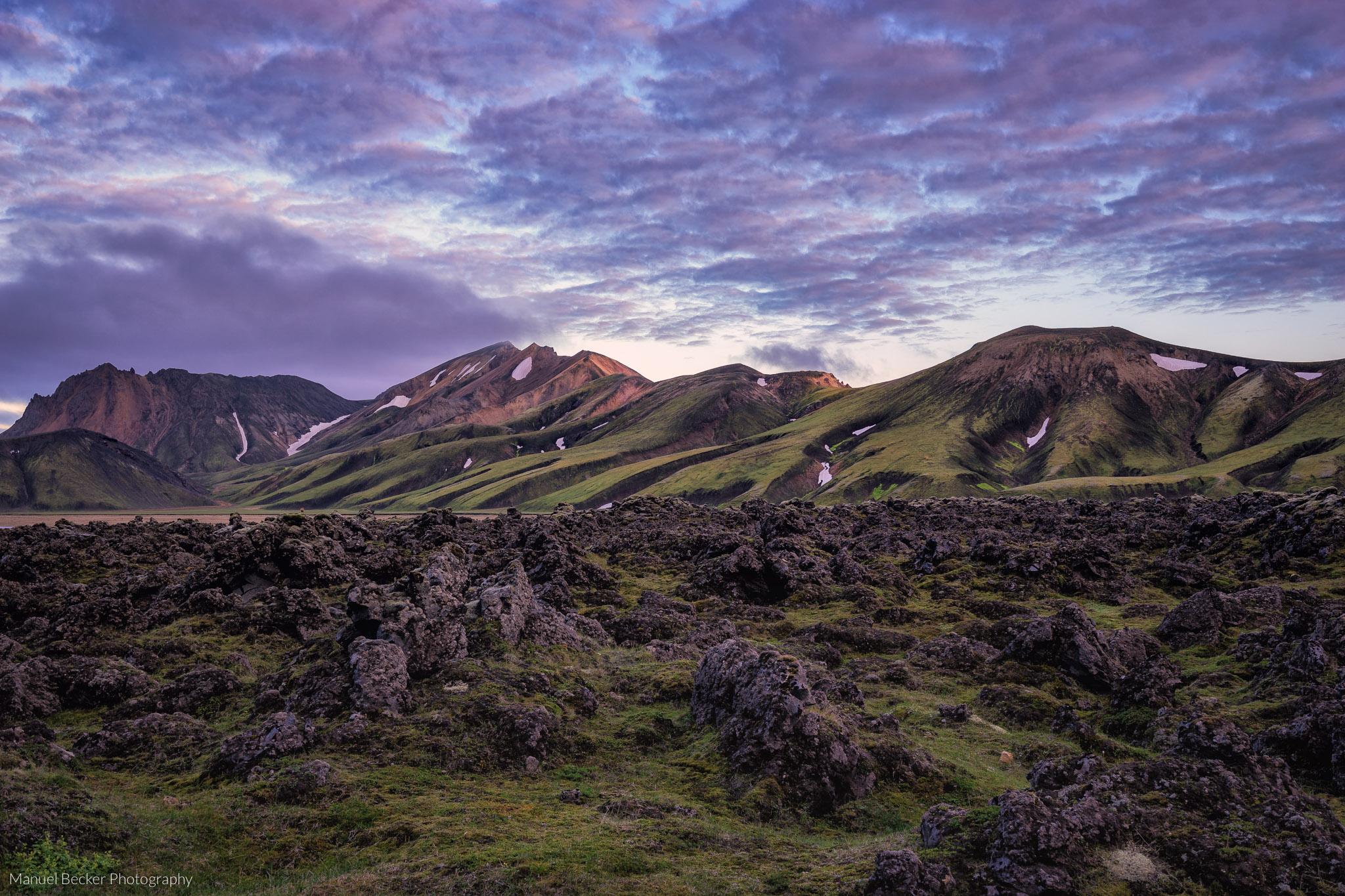 Mountain formation at Landmannalaugar, Iceland