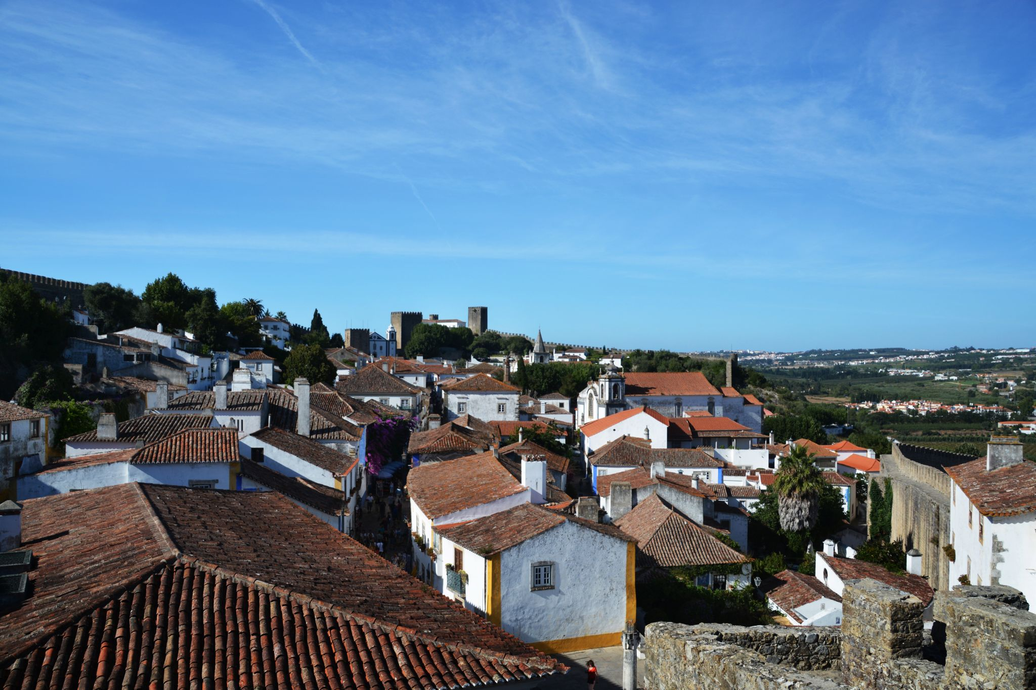 On the Walls of Obidos, Portugal