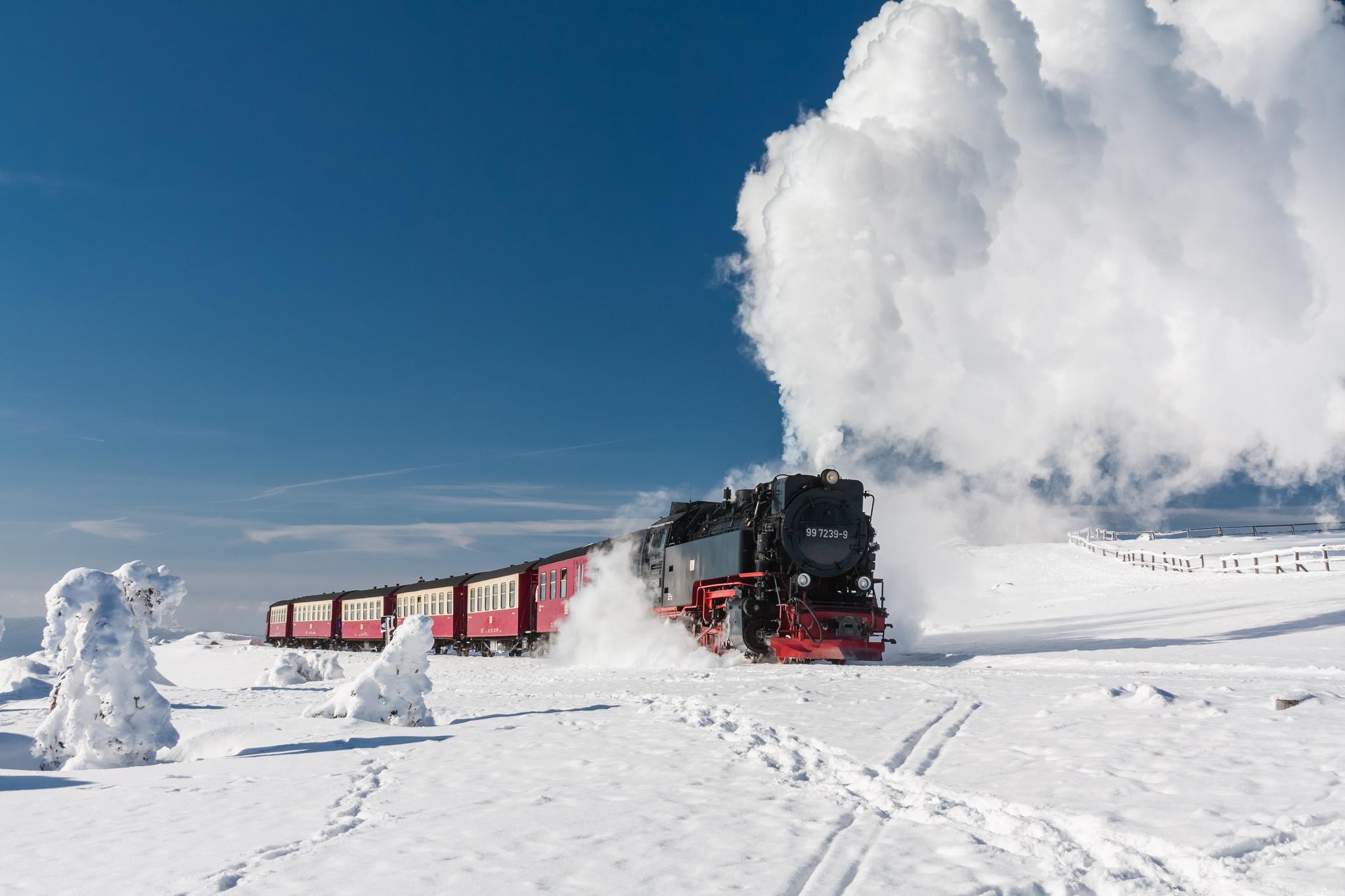 Steam train, Brocken, Harz, Germany