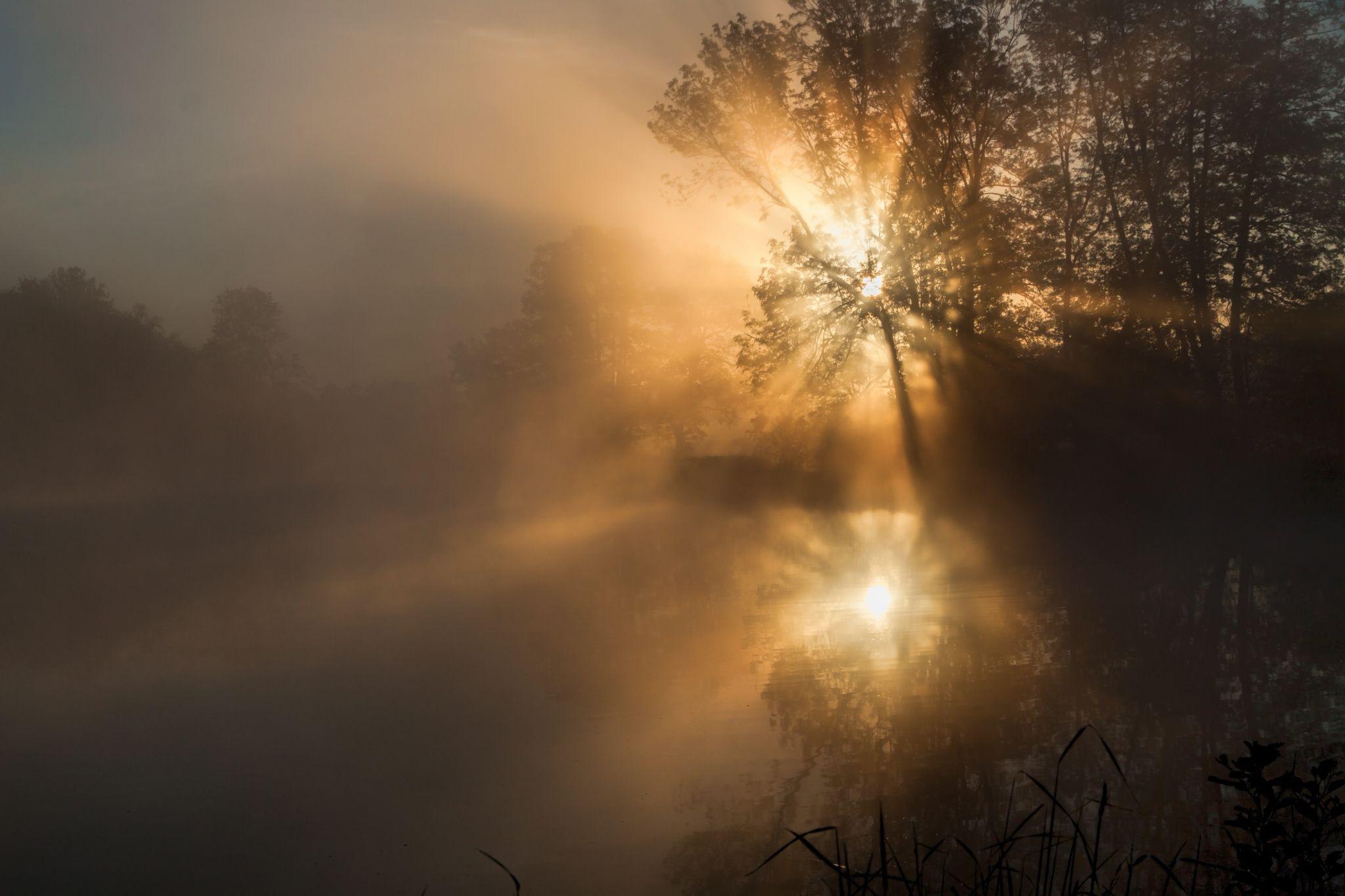 Sunrise at the lake, Germany