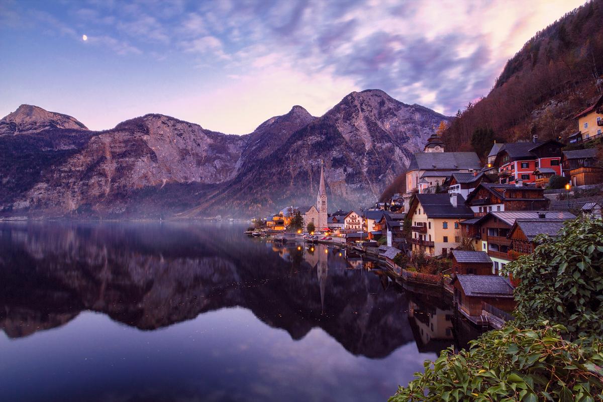 Village Hallstatt in Austria, Austria
