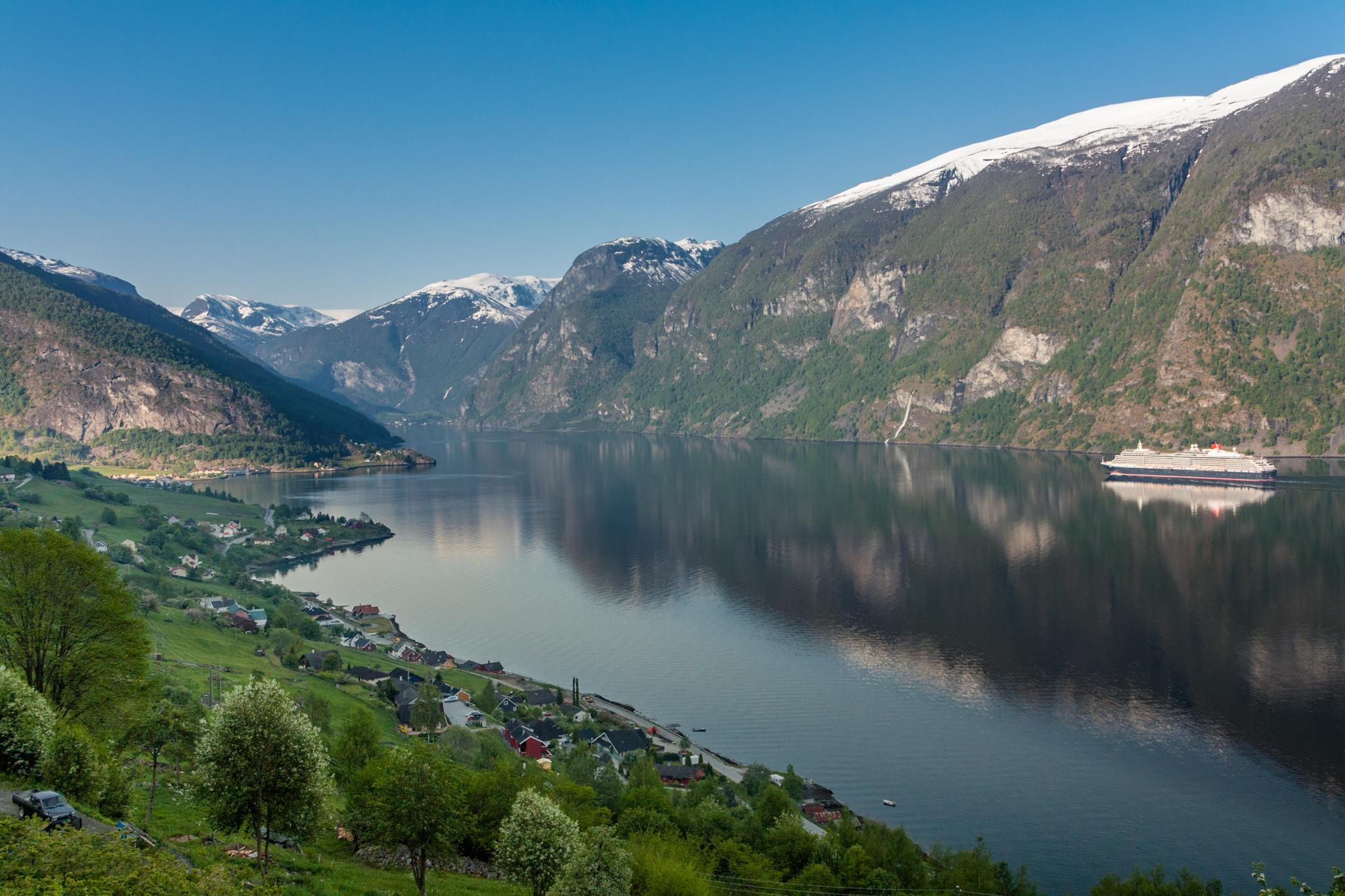 Aurlandsfjord near Aurland, Norway