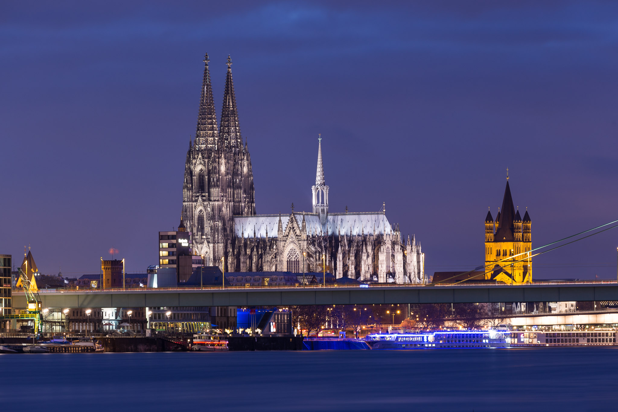 Cologne Cathedral from Poller Wiesen, Germany