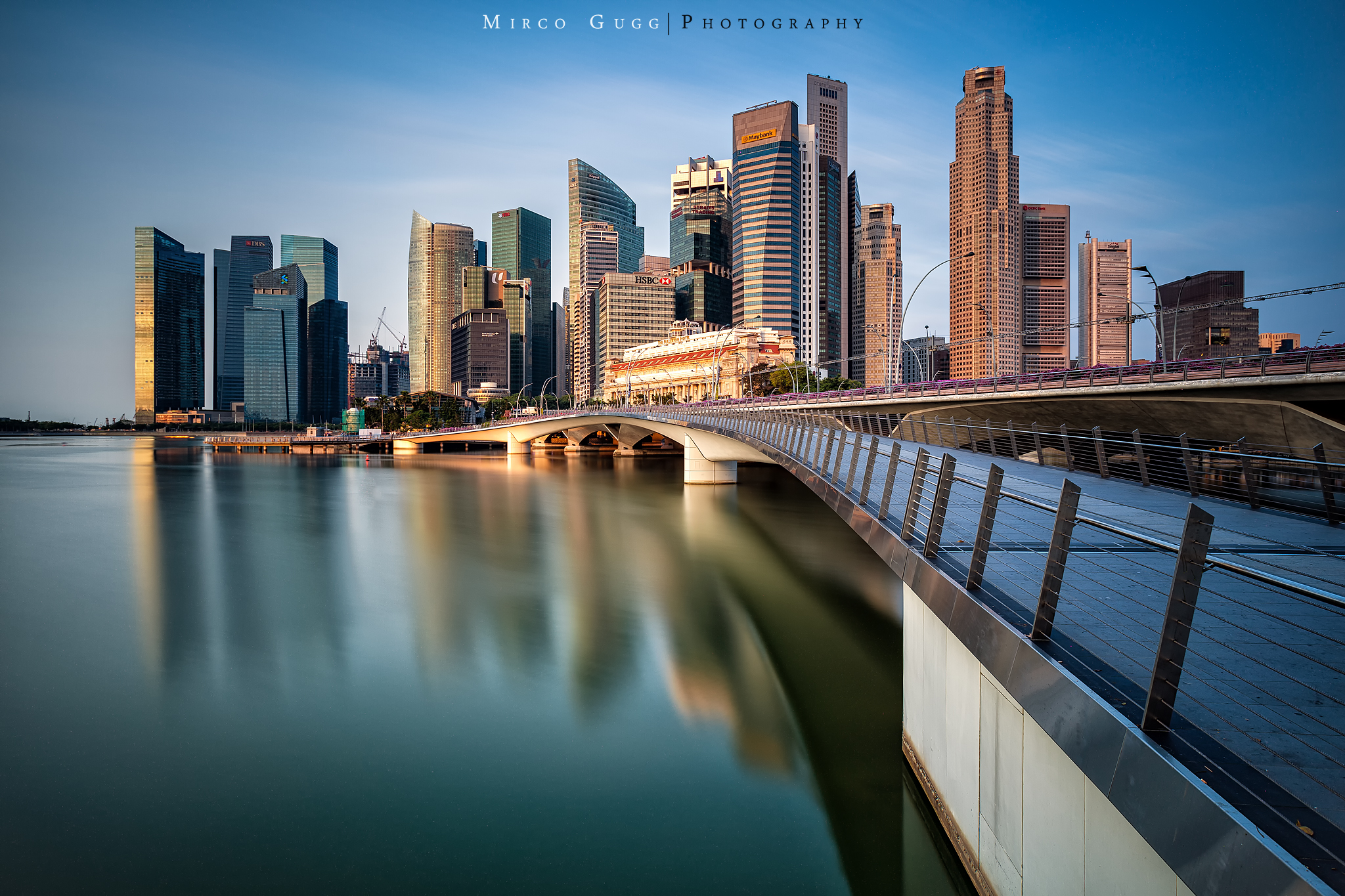Financial District with Jubilee Bridge, Singapore