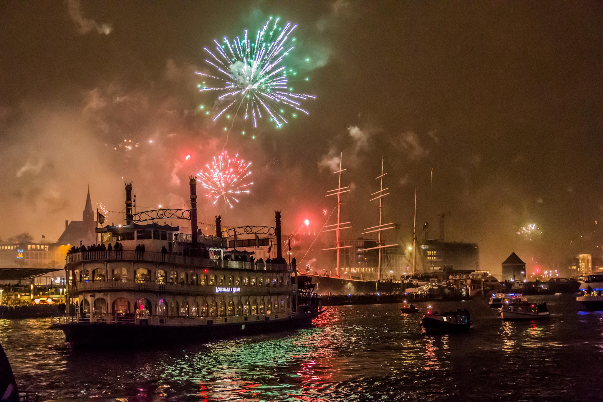 Happy New Year in Hamburg, Germany