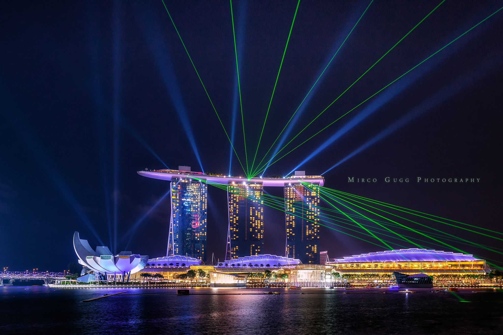 Laser Show at Marina Bay, Singapore