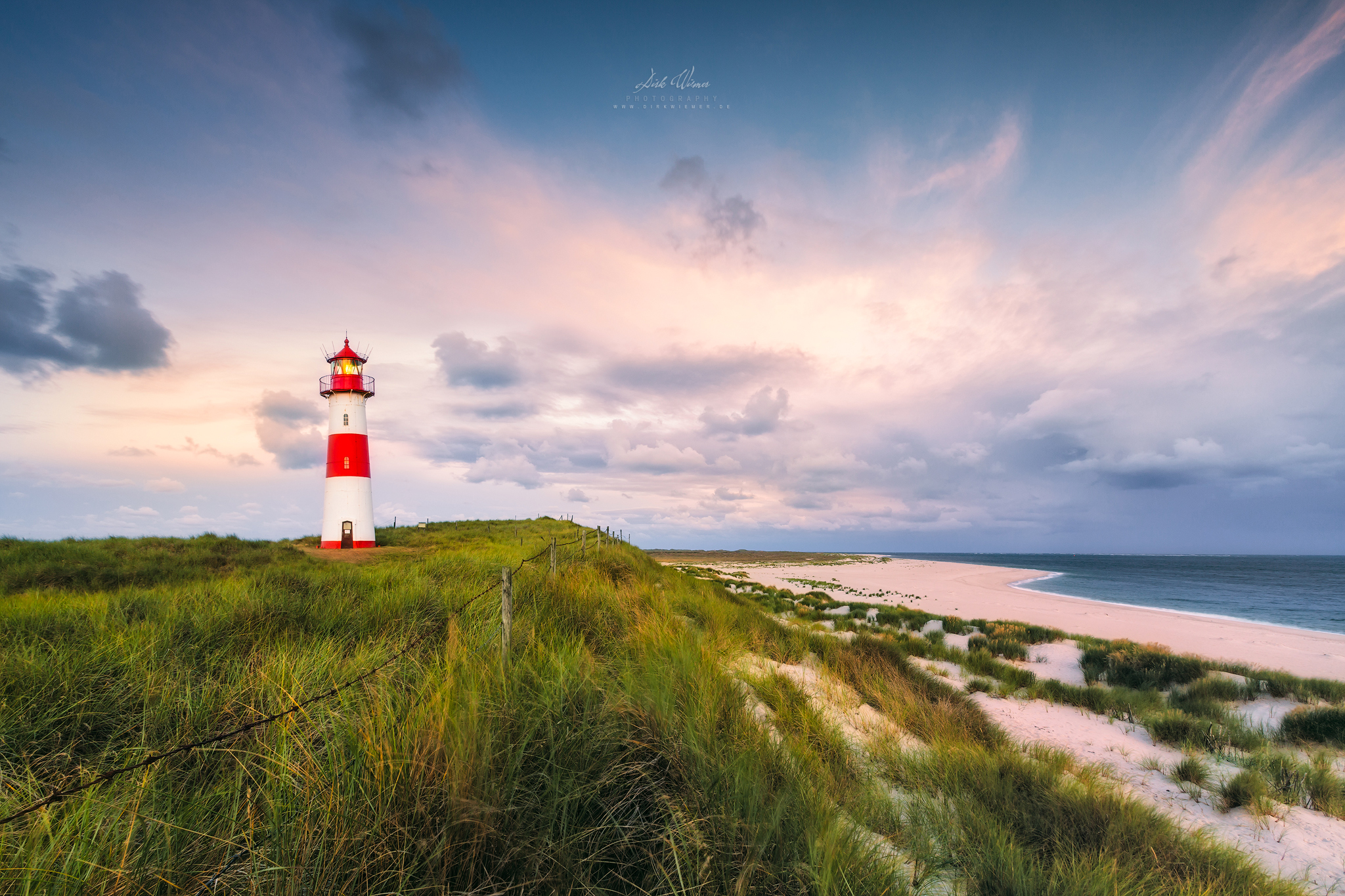 Lighthouse in the morning light (Ellenbogen / Sylt), Germany