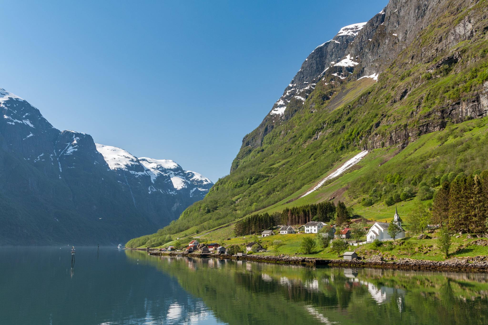 Nærøyfjord near Bakka, Norway