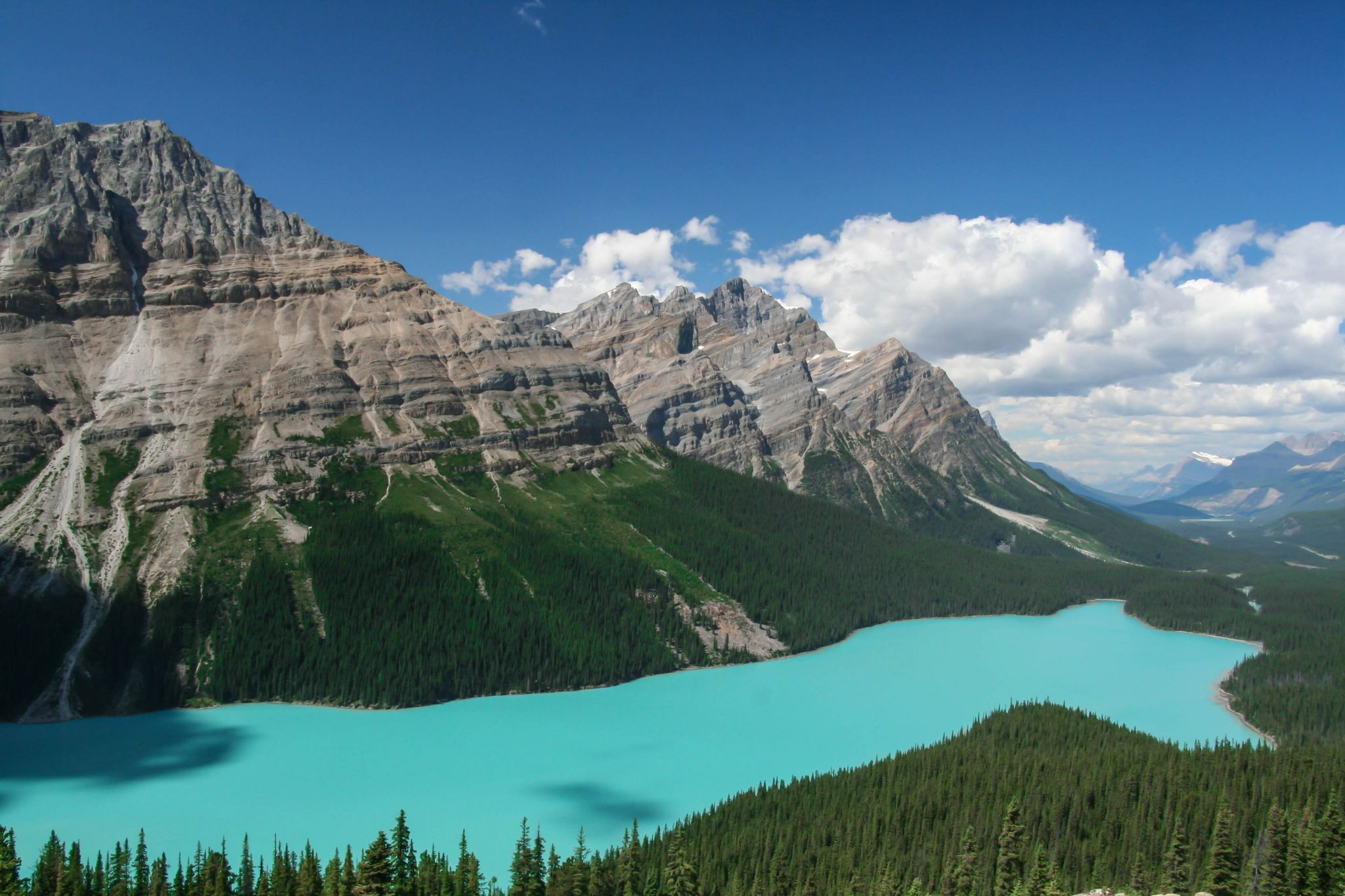Peyto Lake Overview from Bow Summit, Canada