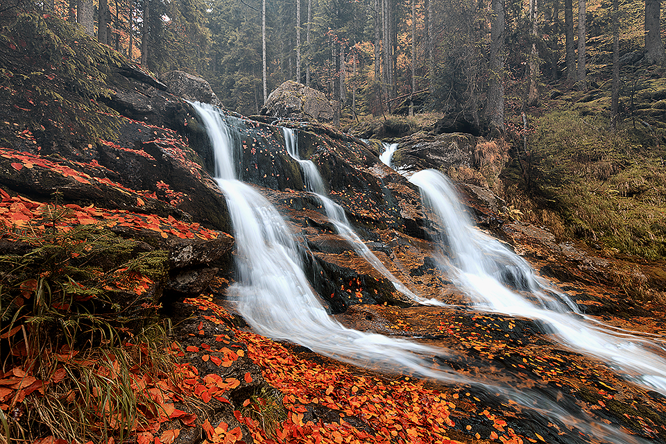 Rieslochfalls at Bodenmais/Bavarian Forest, Germany