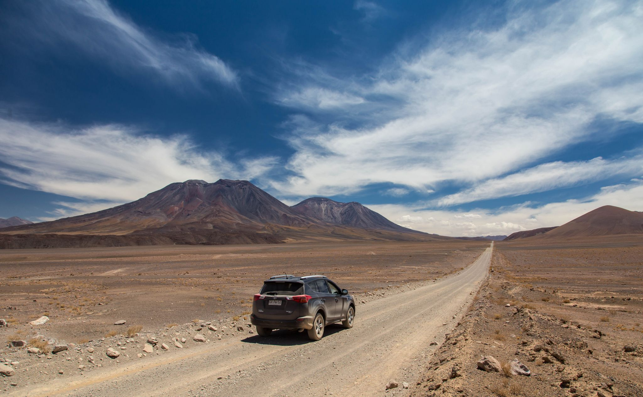 Road to the San Pedro Volcano, Chile