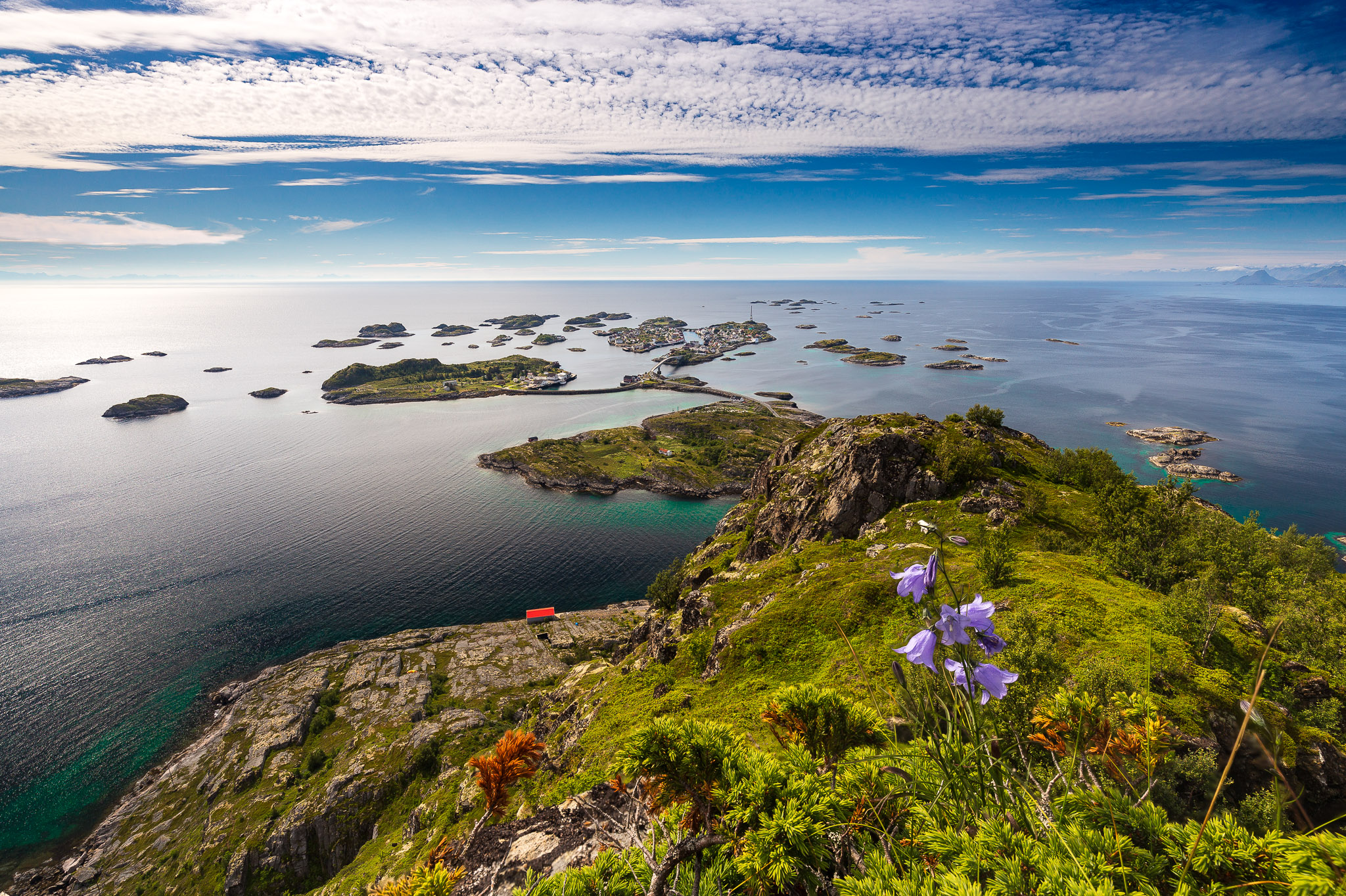 View to Henningsvær, Norway