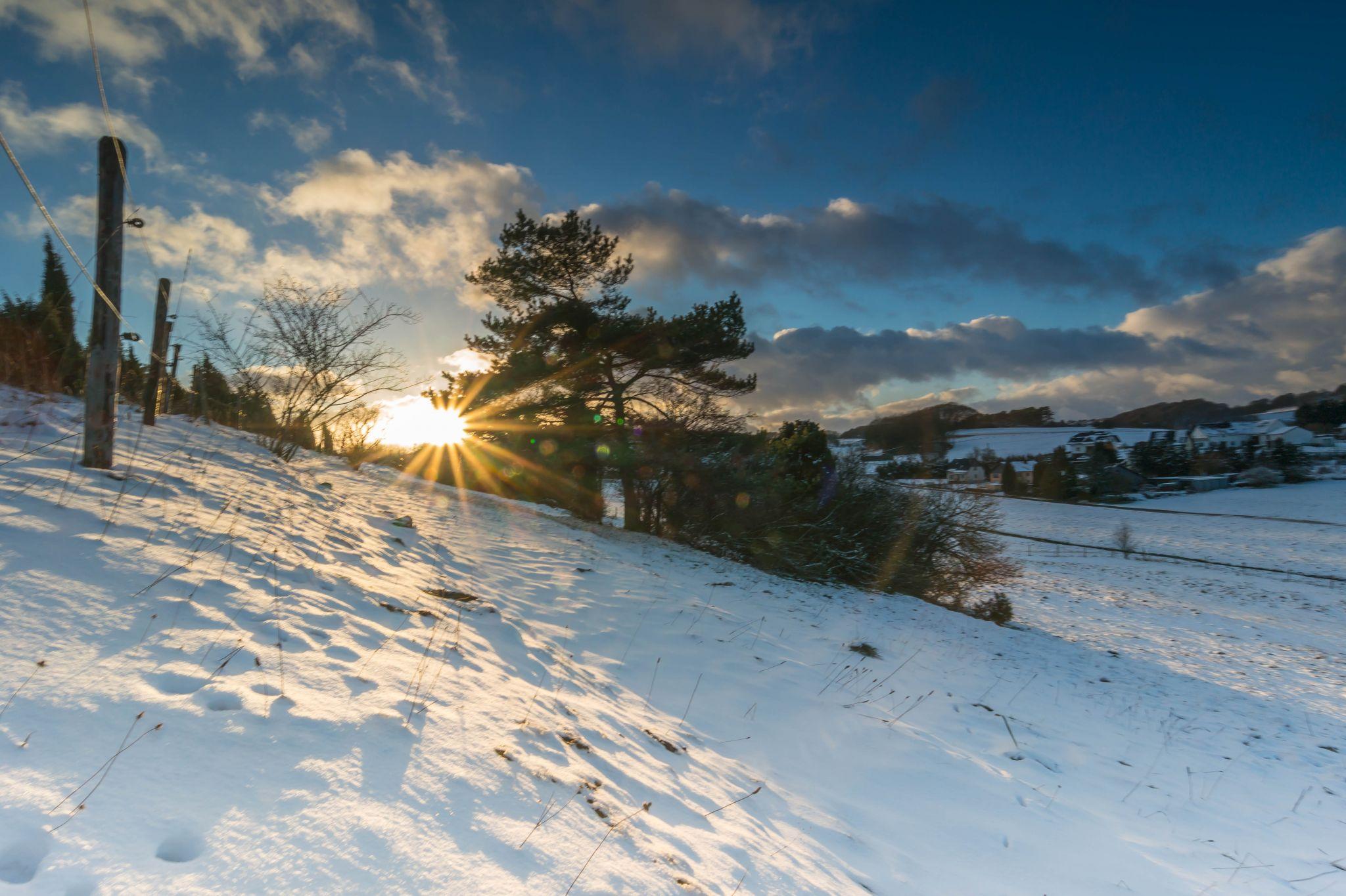 Beautiful winter scenery, Germany