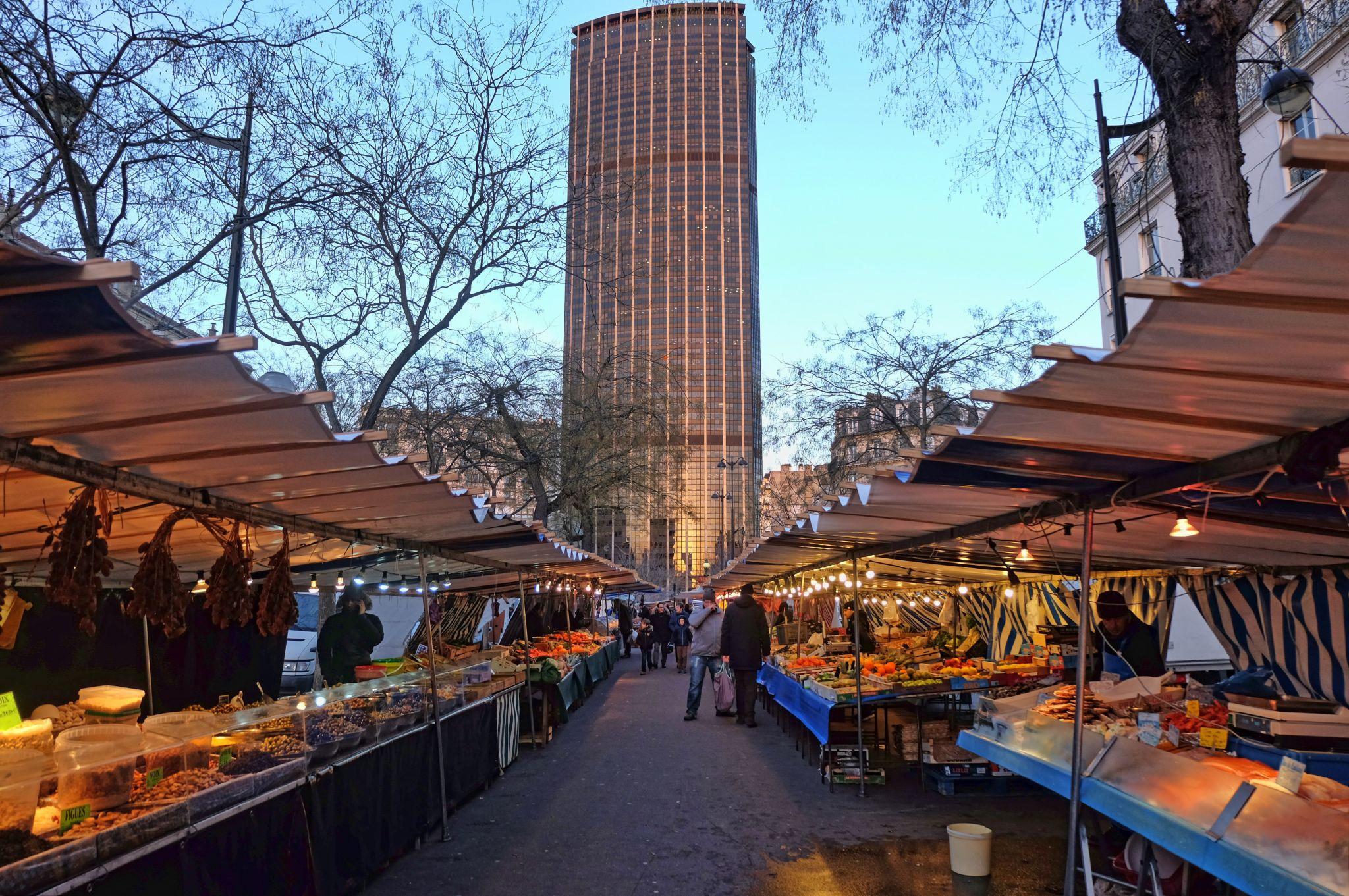 Edgar Quinet Open-Air Food Market (Paris), France