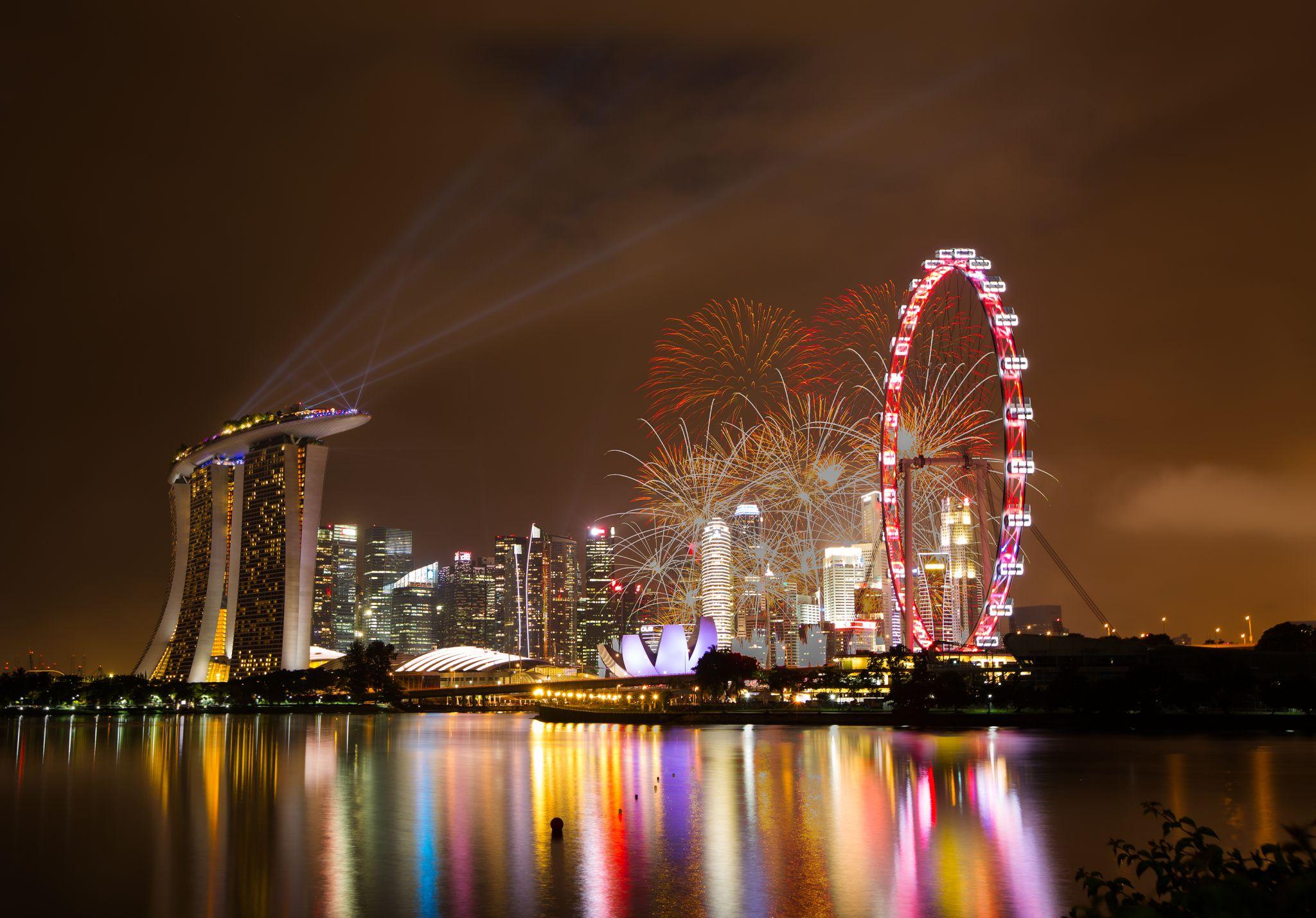 Helix Bridge & Marina Bay Sands, Singapore, Singapore