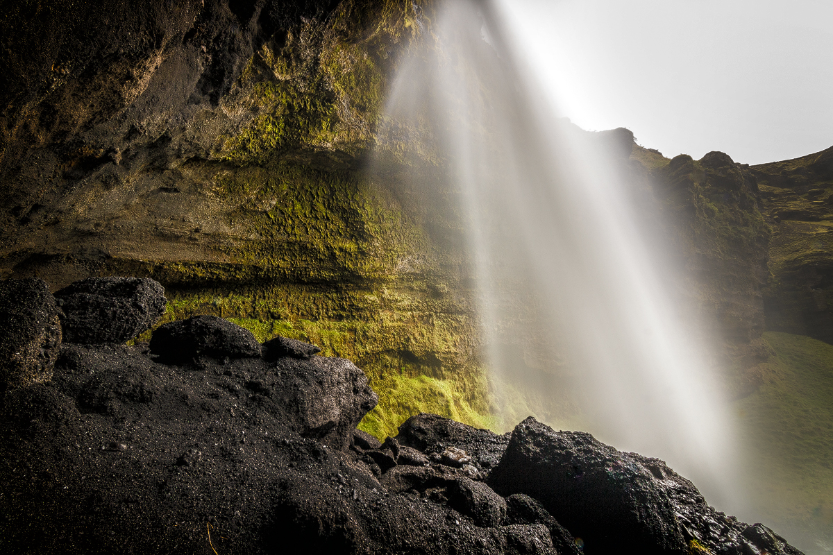 Kvernufoss, the hidden waterfall near Skogafoss, Iceland