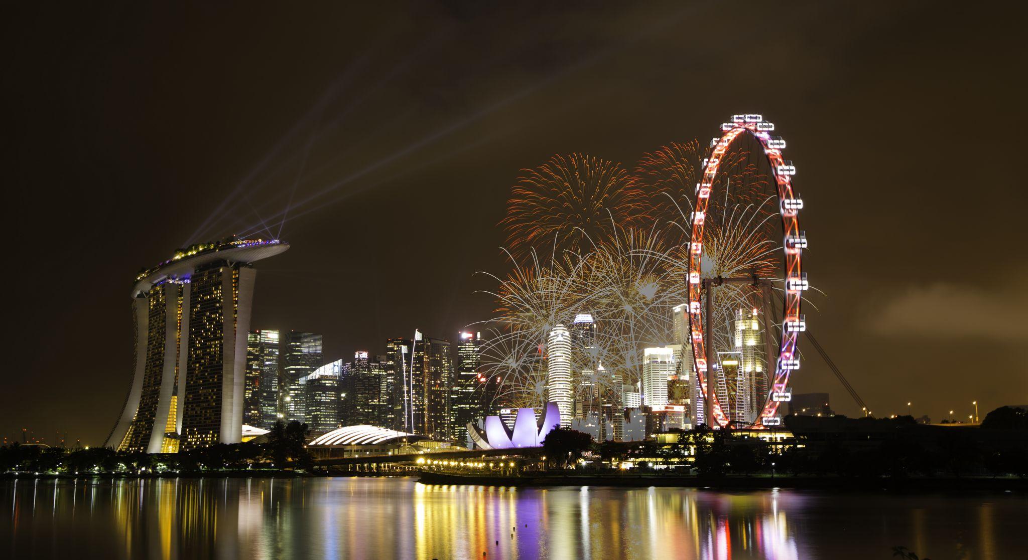 Singapore Marina Bay City Skyline, Singapore