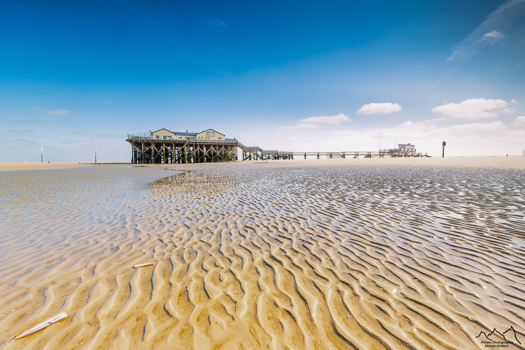 St.Peter-Ording Beach with Bar, Schleswig-Holsten, Germany, Germany