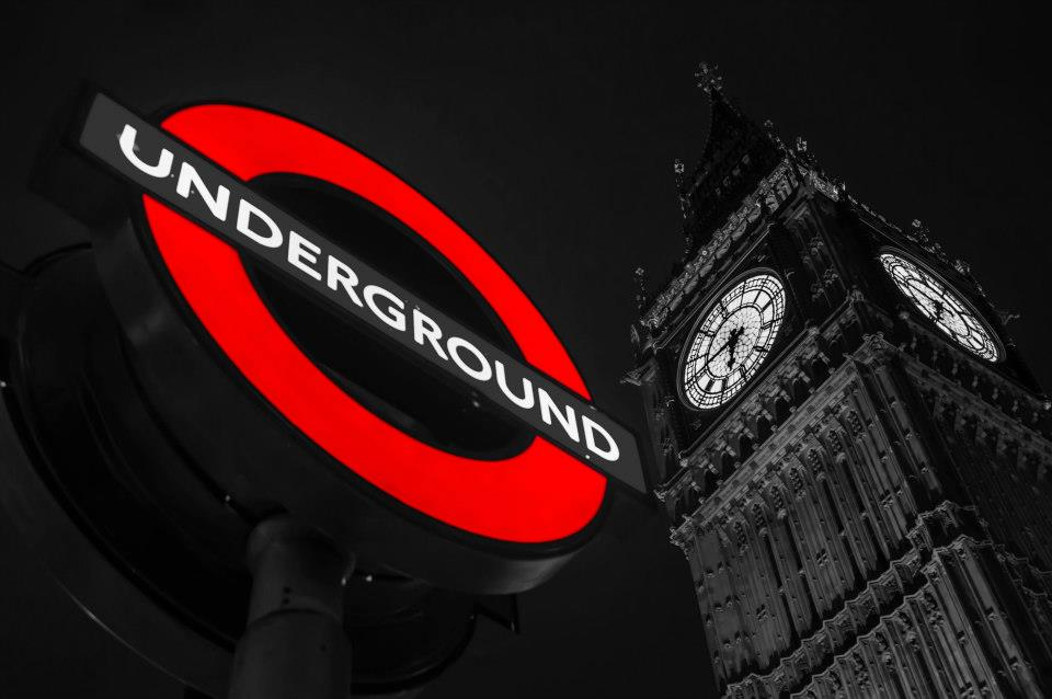 The view to Big Ben from the underground, United Kingdom