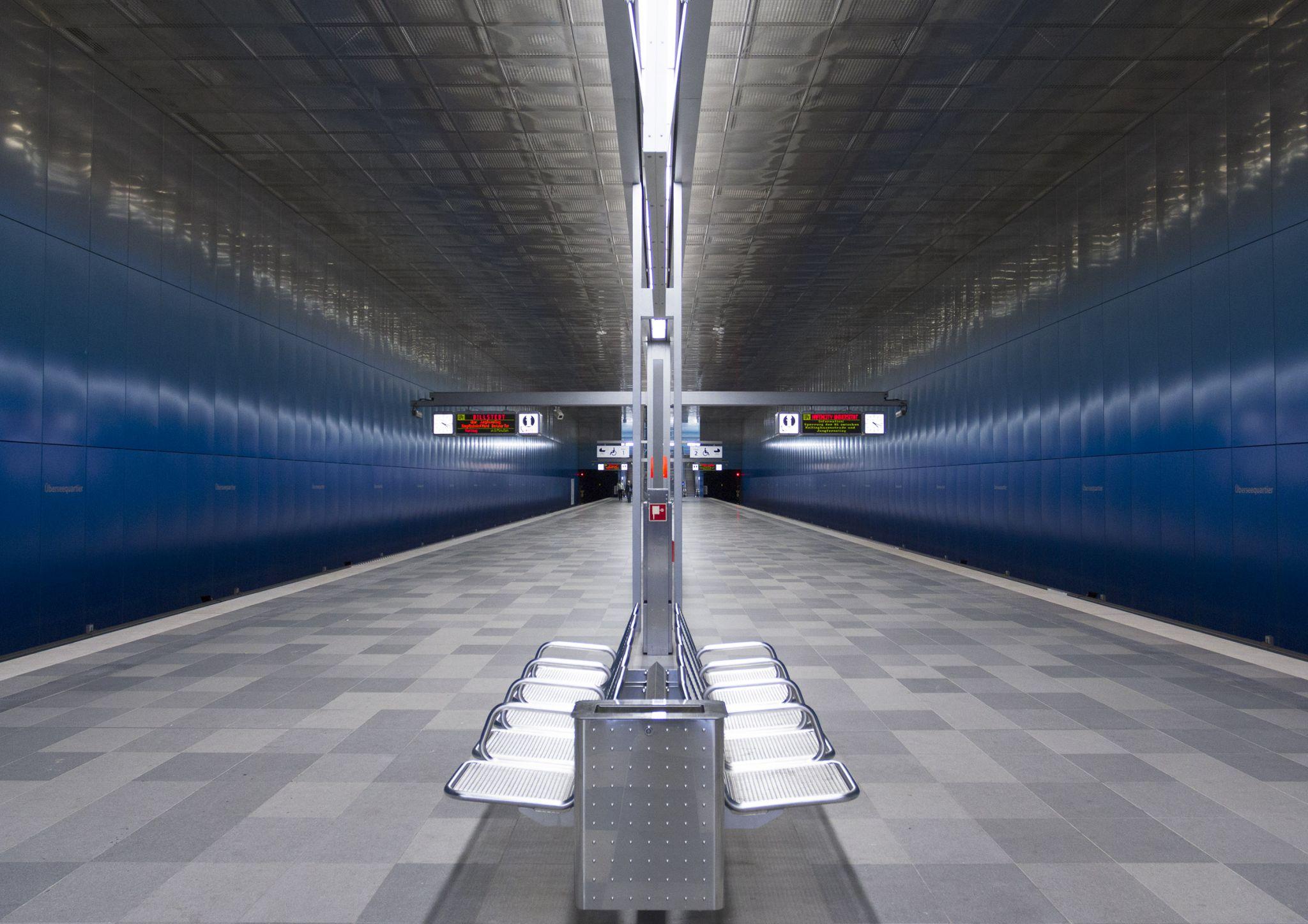 Überseequartier - Subway Station, Germany