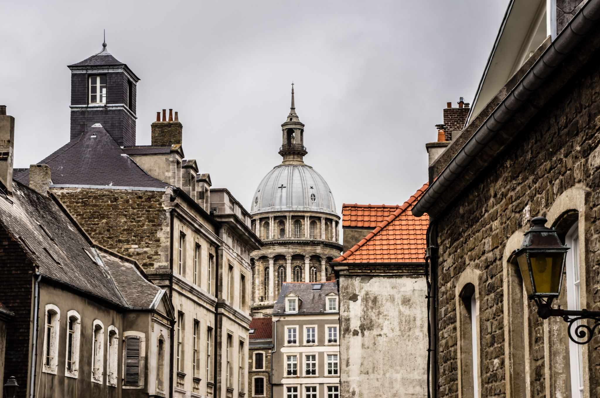 View to the Basilica of Boulogne-sur-Mer, France, France