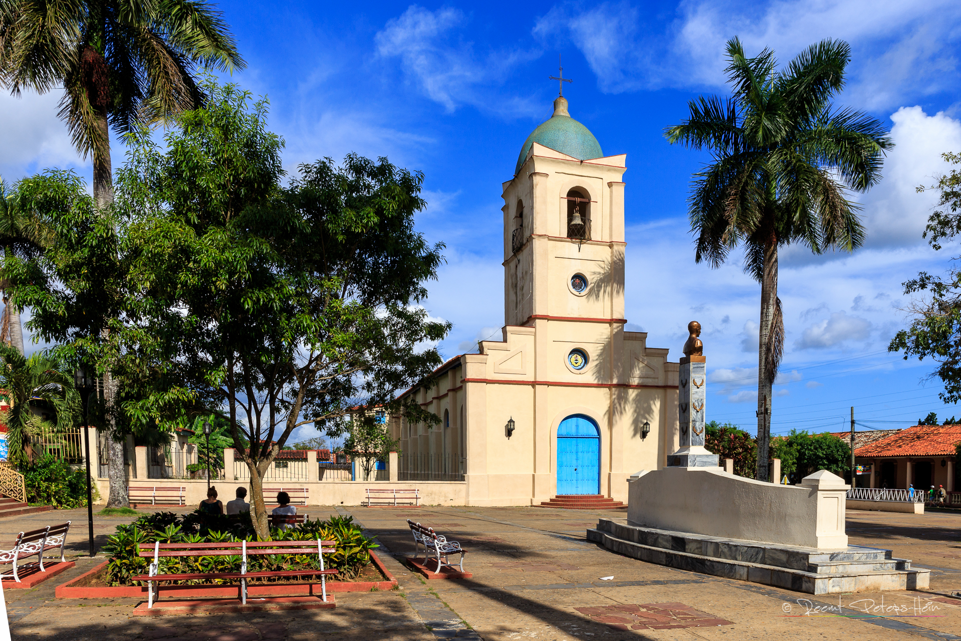 Church and main square of Vinales, Cuba